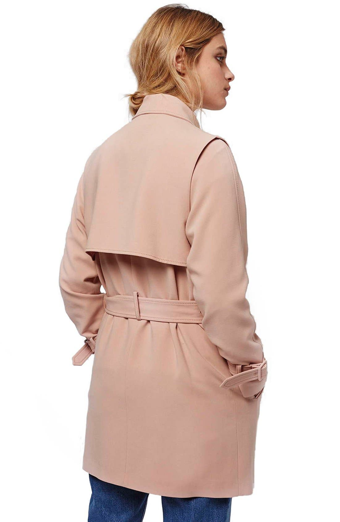 Alternate Image 3  - Topshop Belted Double Breasted Trench Coat