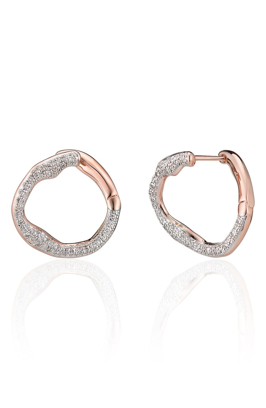Monica Vinader 'Riva' Diamond Stud Earrings