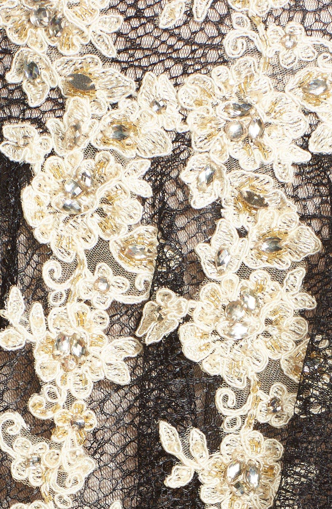 Alternate Image 7  - Terani Couture Appliqué Lace Fit & Flare Dress