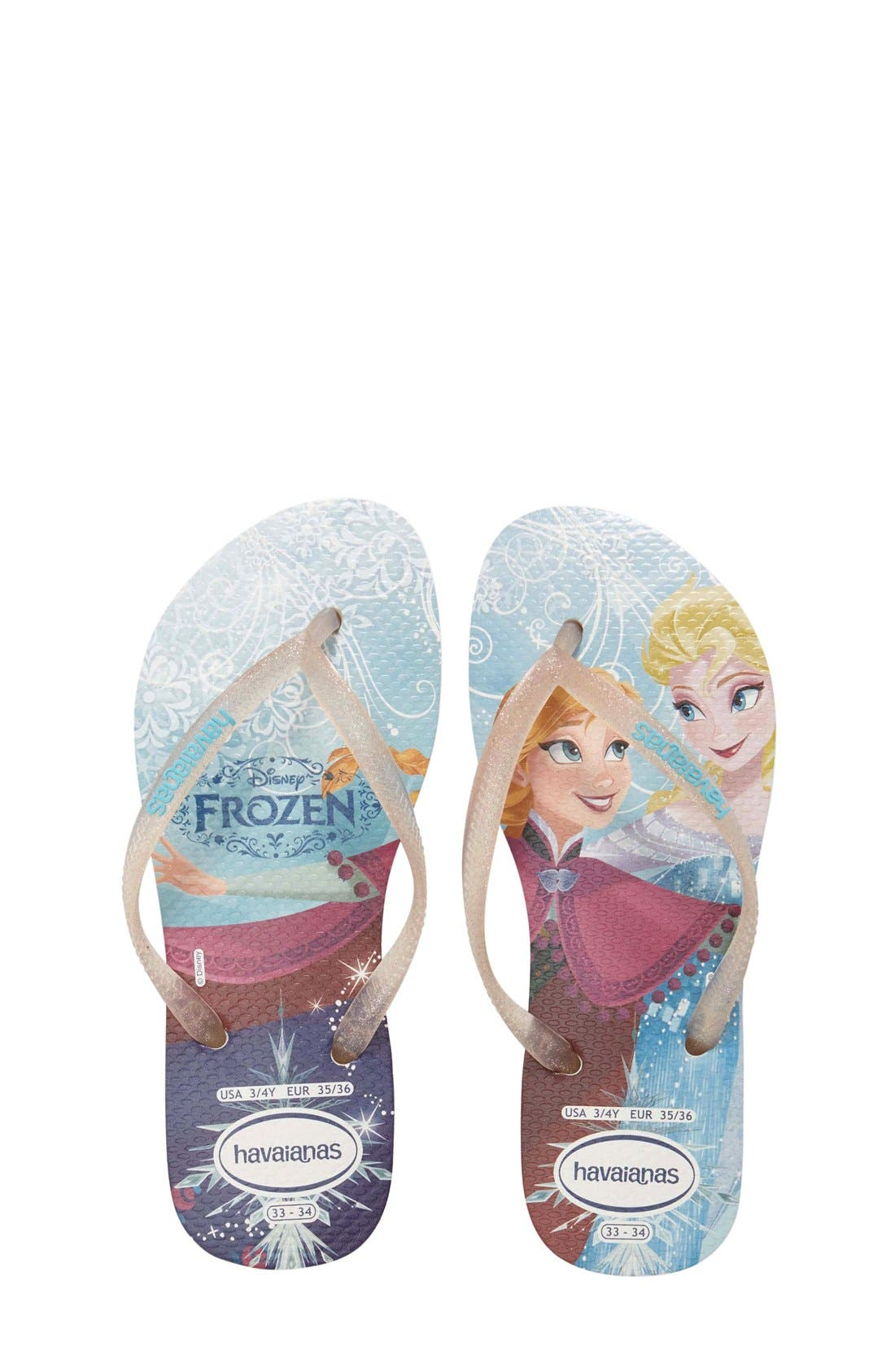 Alternate Image 1 Selected - Havaianas 'Disney Princess' Flip Flops (Toddler & Little Kid)