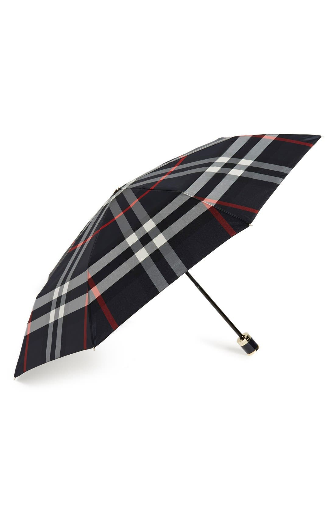 Burberry 'Trafalgar' Check Folding Umbrella