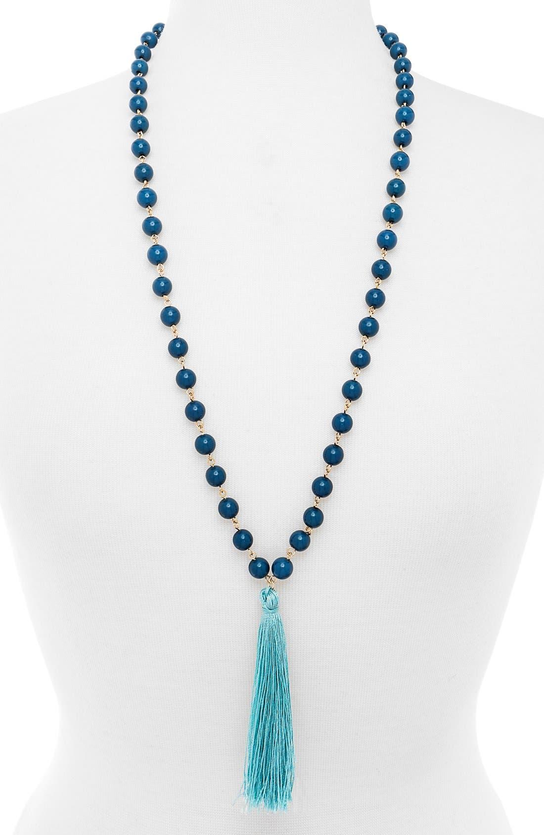 Main Image - BaubleBar 'Bali' Tassel Pendant Necklace