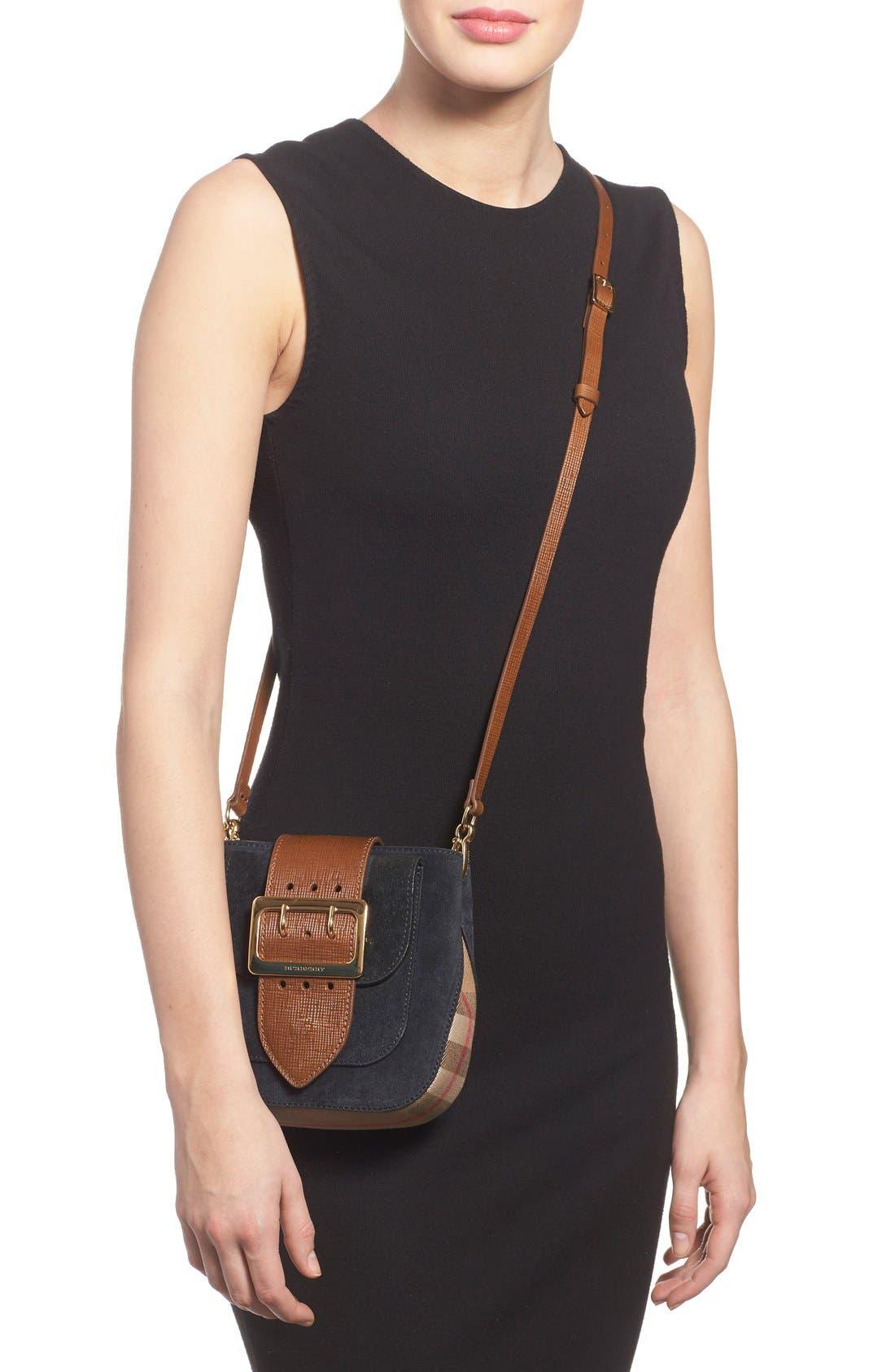 Alternate Image 2  - Burberry Suede & Canvas Convertible Crossbody Bag