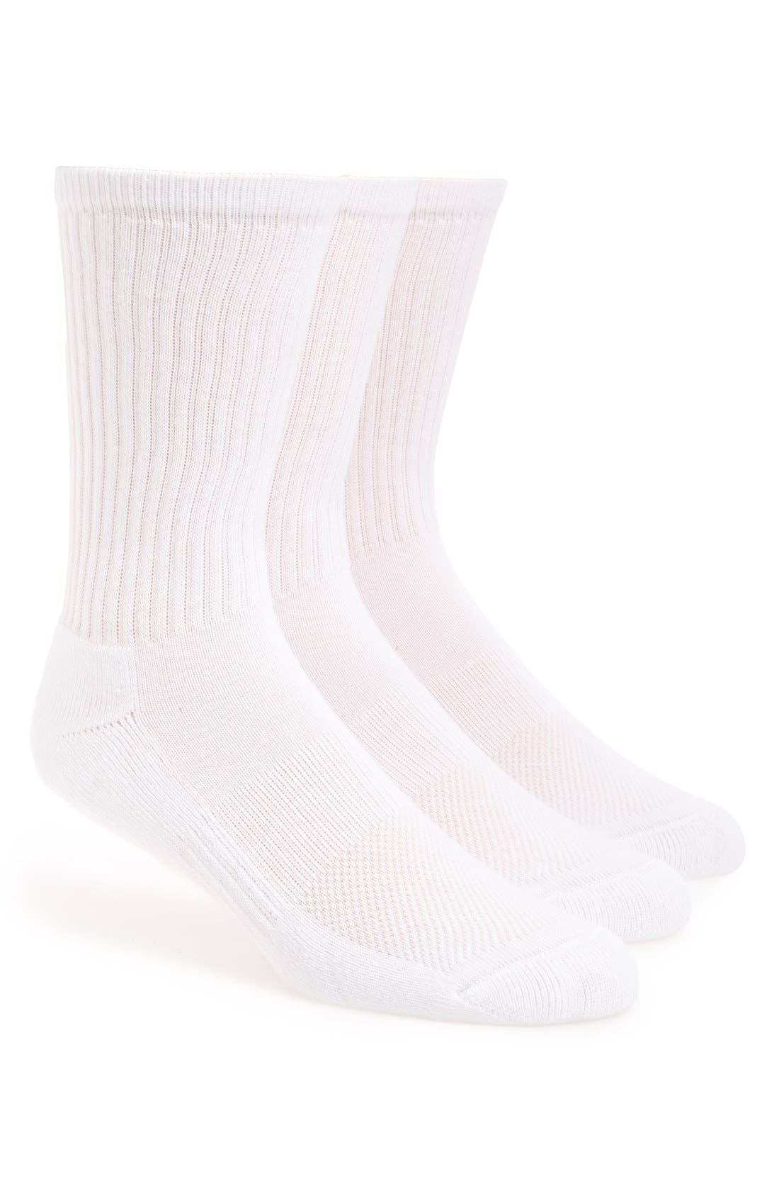 Nordstrom Mens Shop 3-Pack Athletic Socks