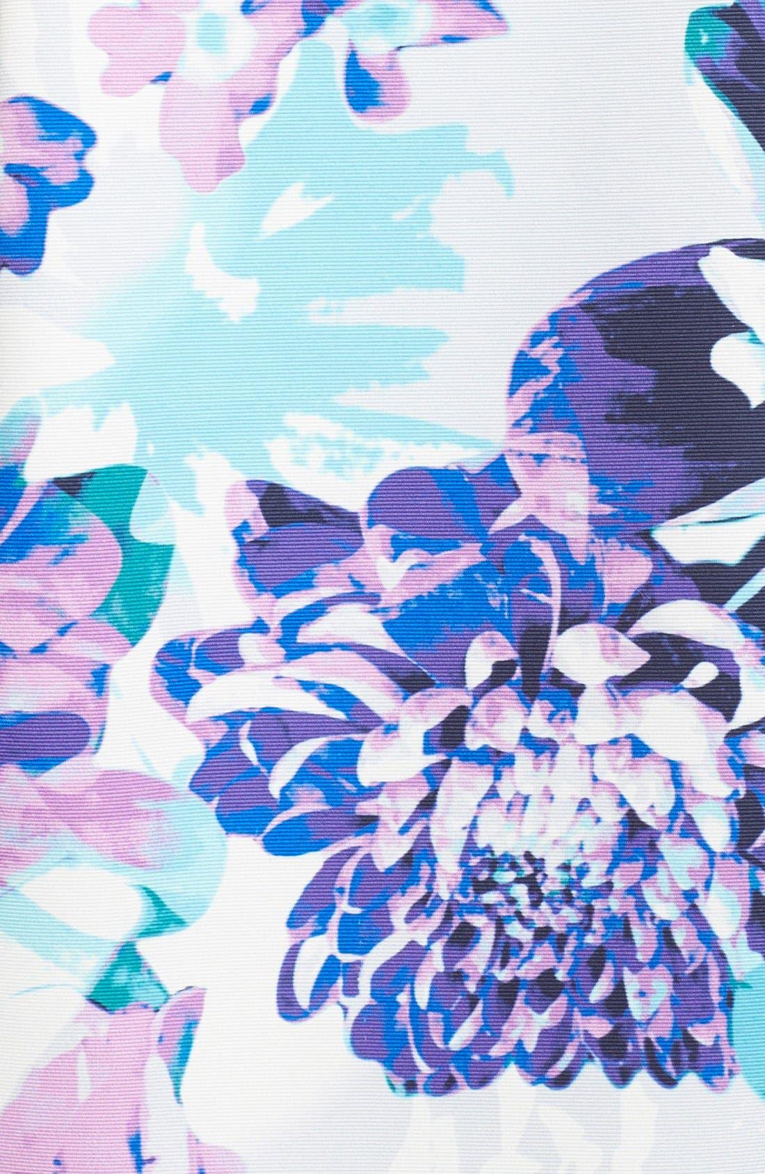 Alternate Image 6  - Eliza J Belted Floral Faille Sheath Dress (Regular & Petite)