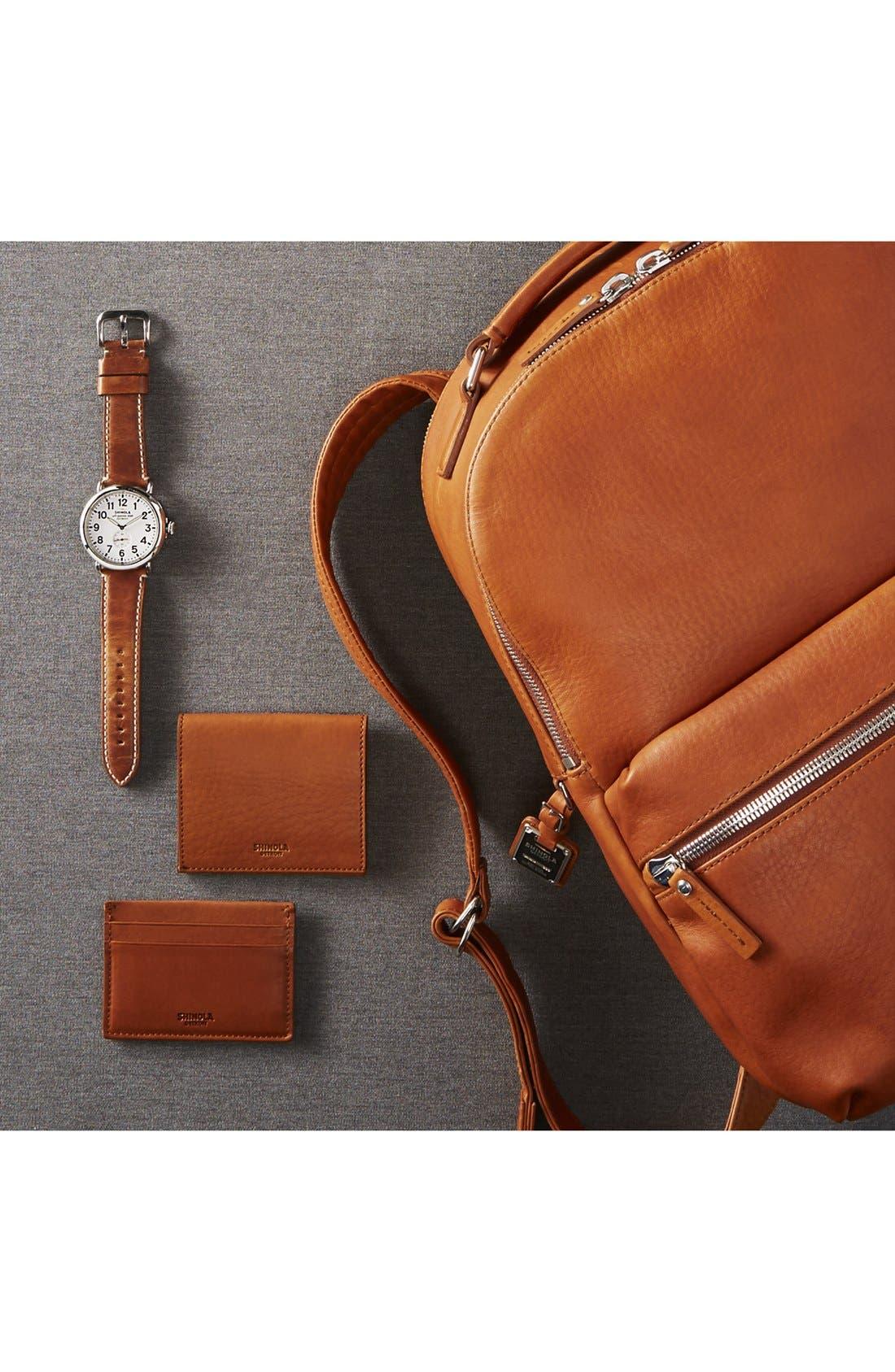 Alternate Image 4  - Shinola Gusset Leather Card Case