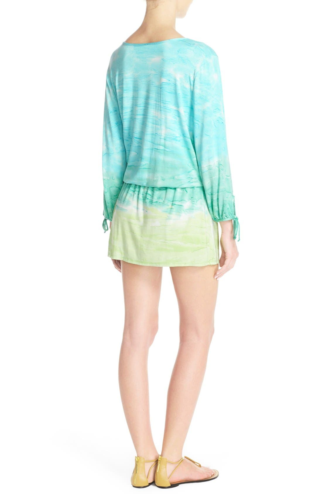 Alternate Image 2  - Green Dragon 'Palais' Print Tunic Cover-Up
