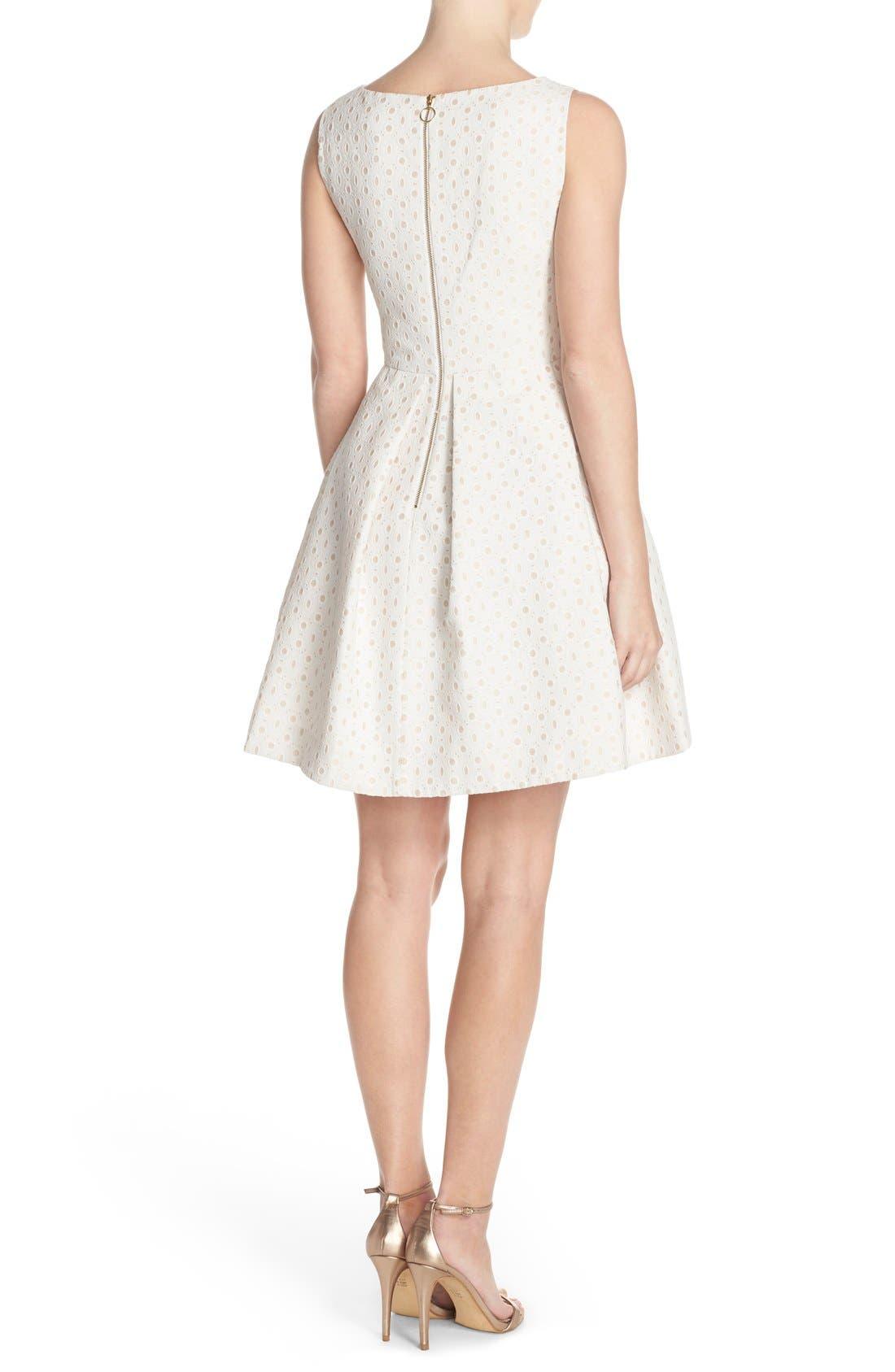 Alternate Image 2  - Taylor Dresses Eyelet Fit & Flare Dress