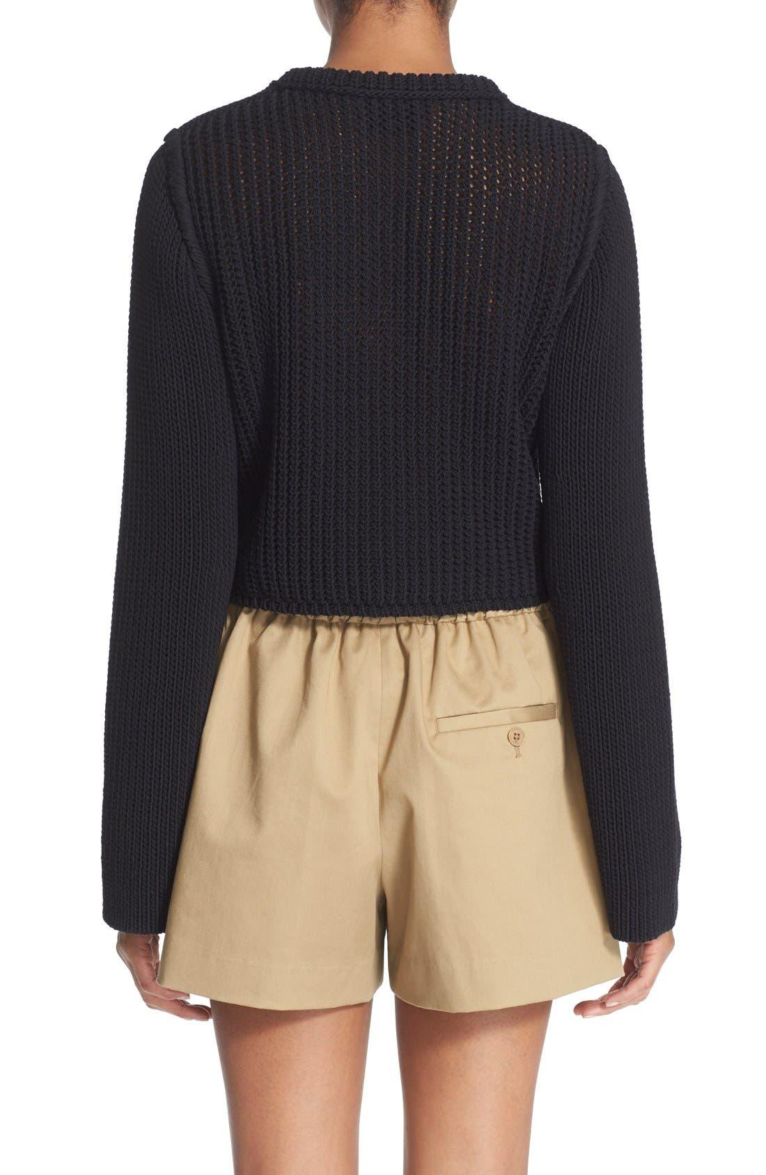 Alternate Image 2  - 3.1 Phillip Lim Open Stitch Crop Sweater