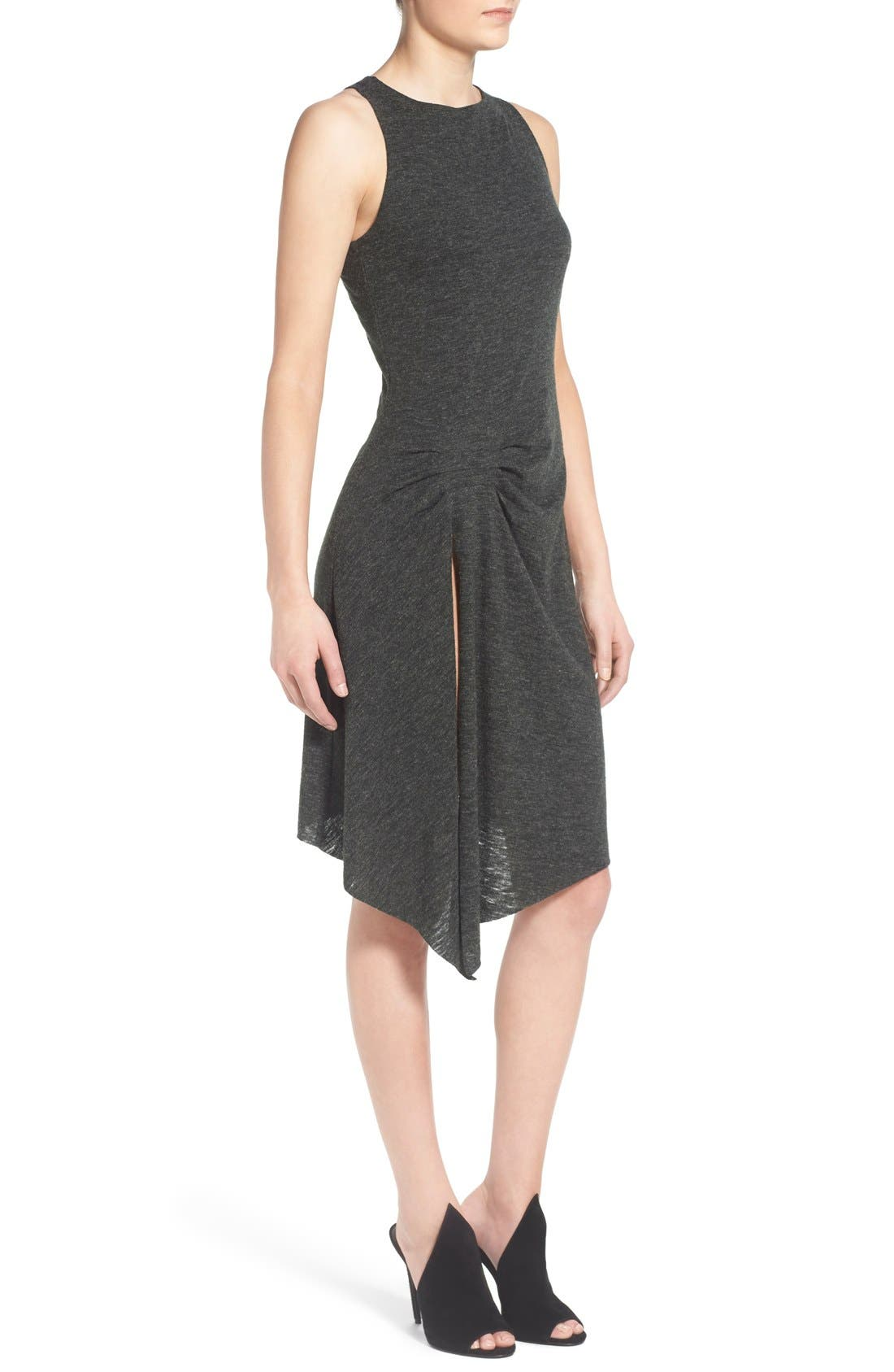 Alternate Image 3  - KENDALL + KYLIE Raw Edge Jersey Racerback Dress