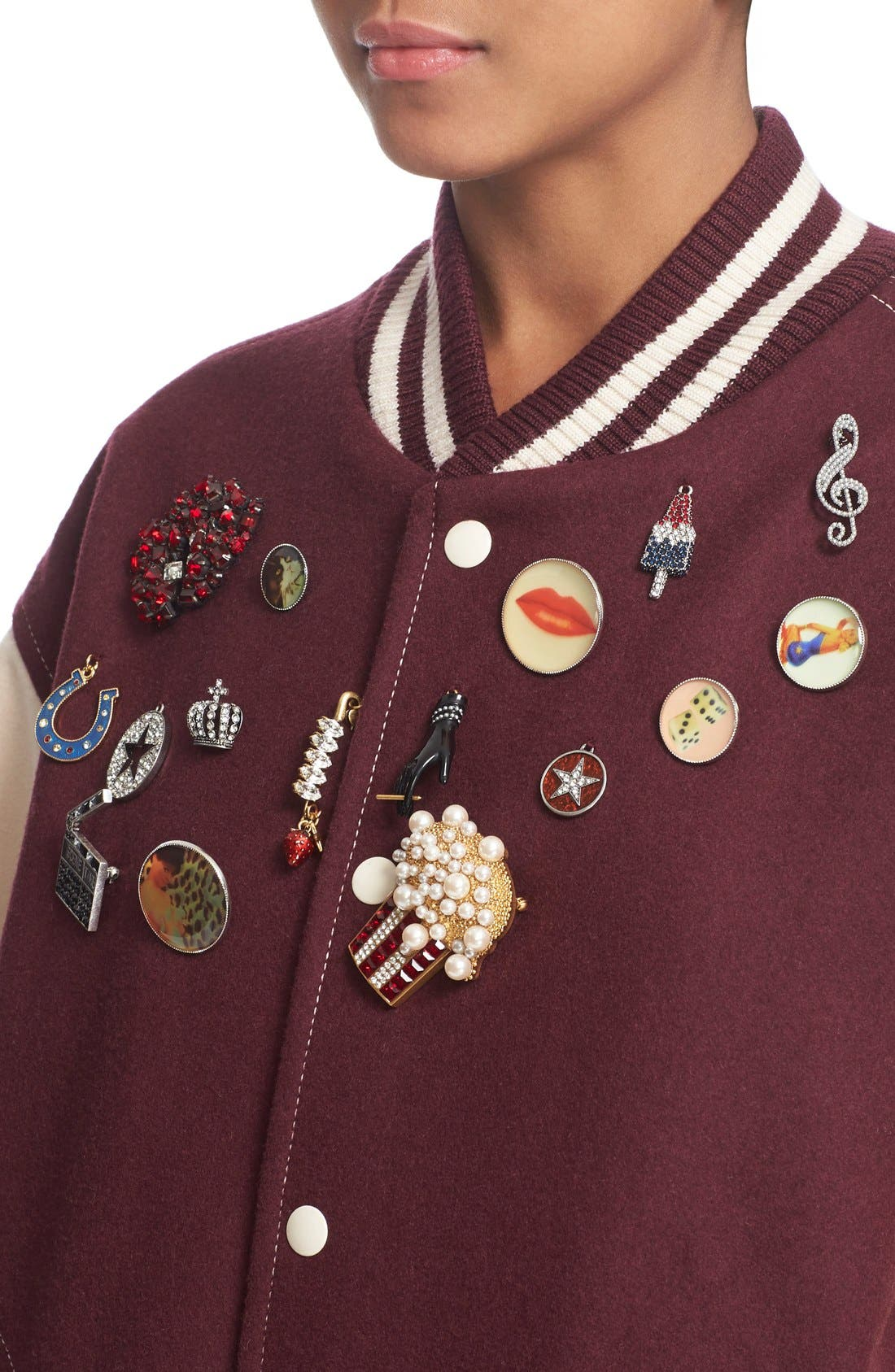 Alternate Image 7  - MARC JACOBS Embellished Varsity Jacket