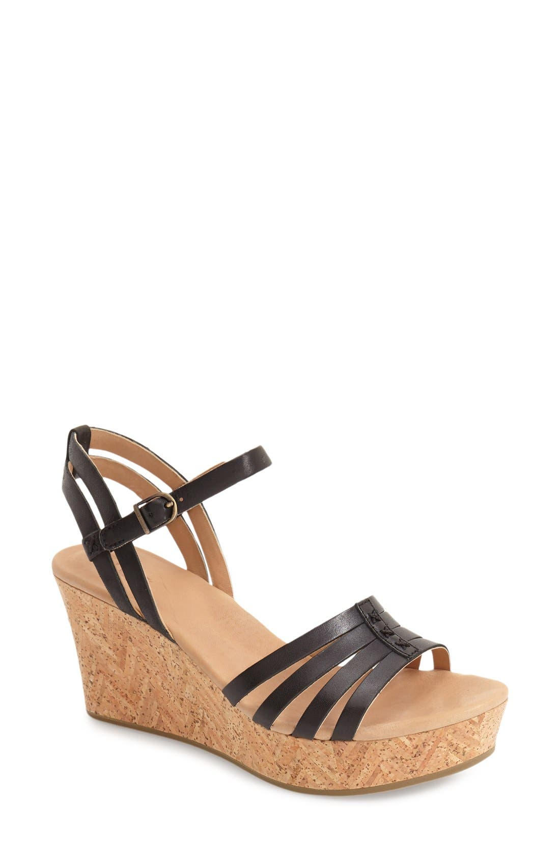 Alternate Image 1 Selected - UGG® 'Brigitte' Wedge Sandal (Women)