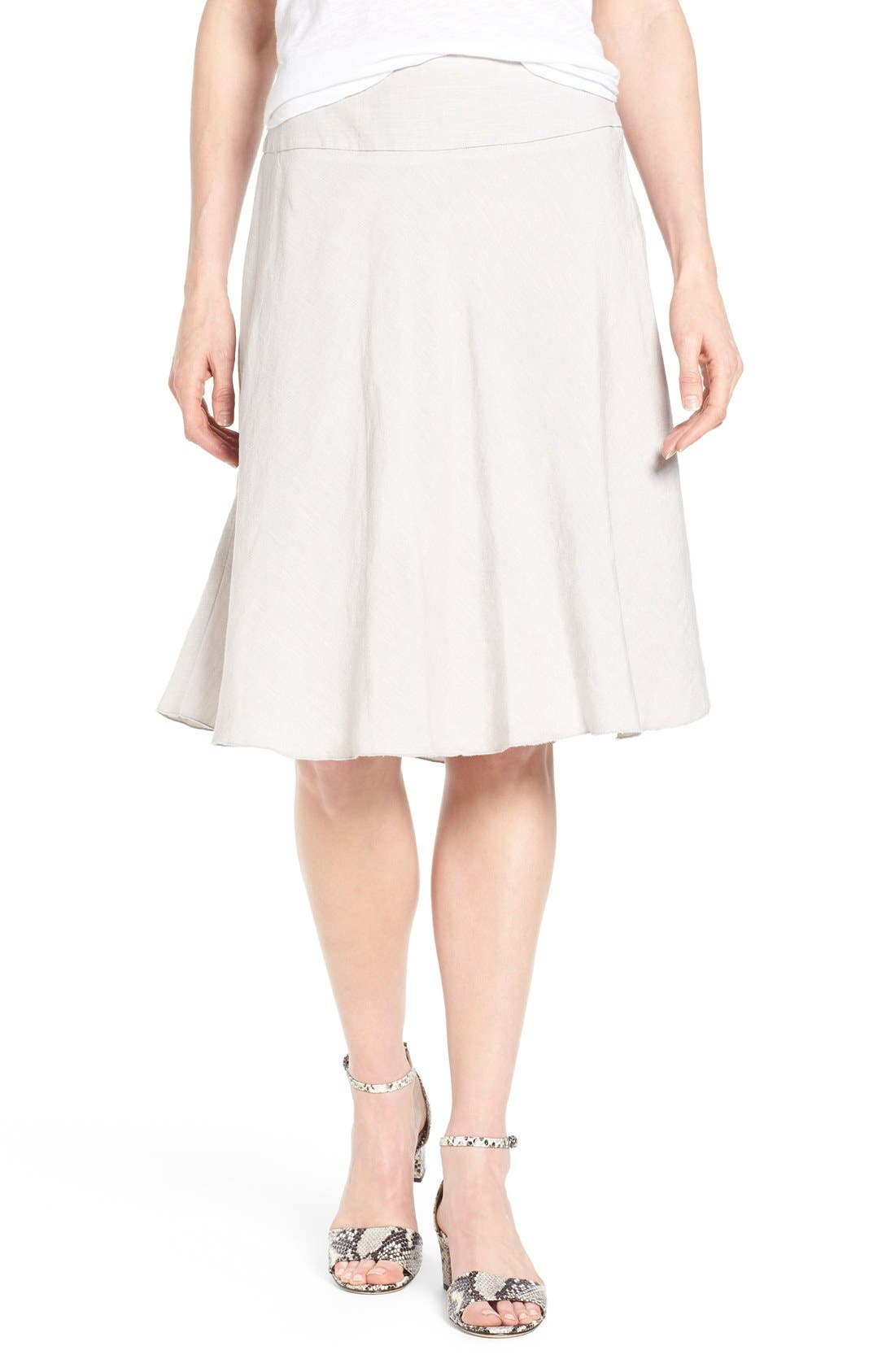 NIC+ZOE Summer Fling Linen Blend Skirt