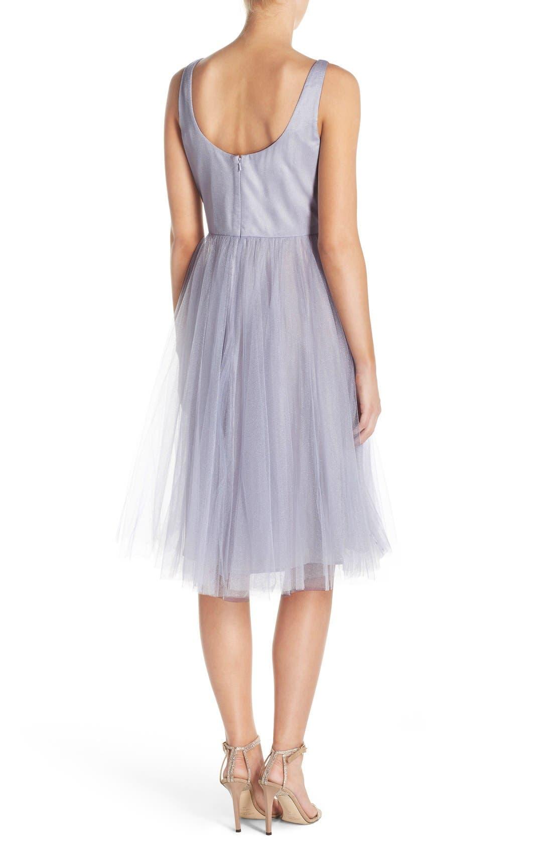 Alternate Image 2  - Donna Morgan 'Chantal' Tulle Fit & Flare Midi Dress