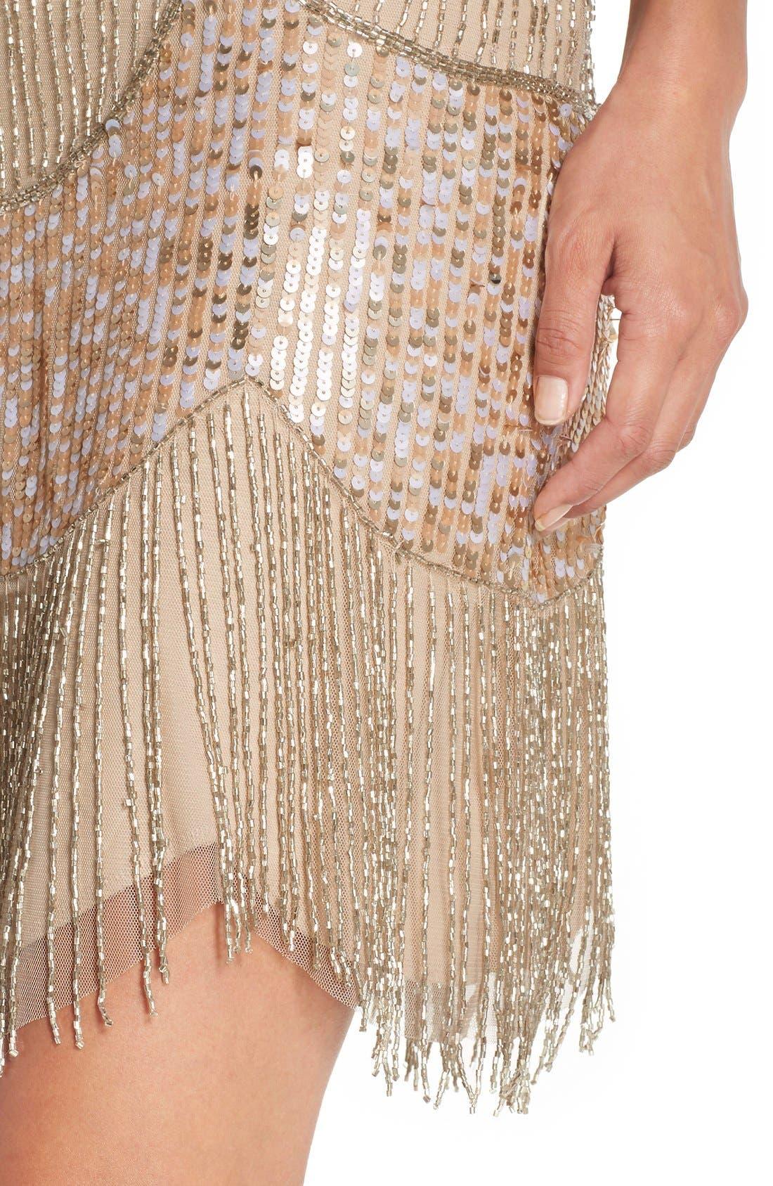 Alternate Image 5  - Adrianna Papell Embellished Mesh Sheath Dress