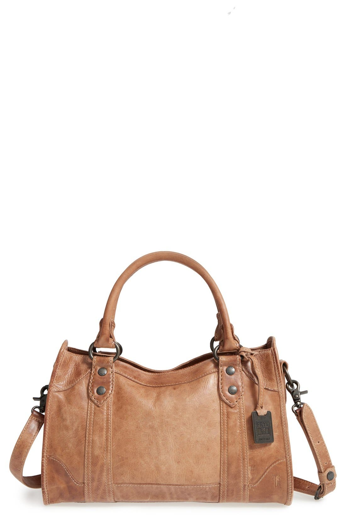 Main Image - Frye 'Melissa' Washed Leather Satchel