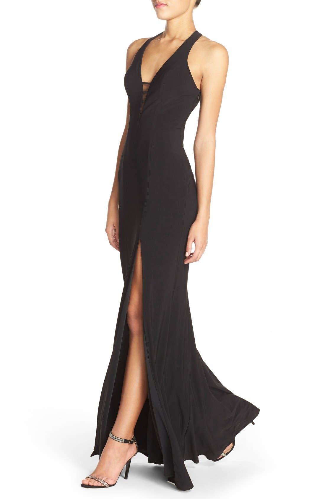 Alternate Image 3  - Faviana Cutout Jersey Gown