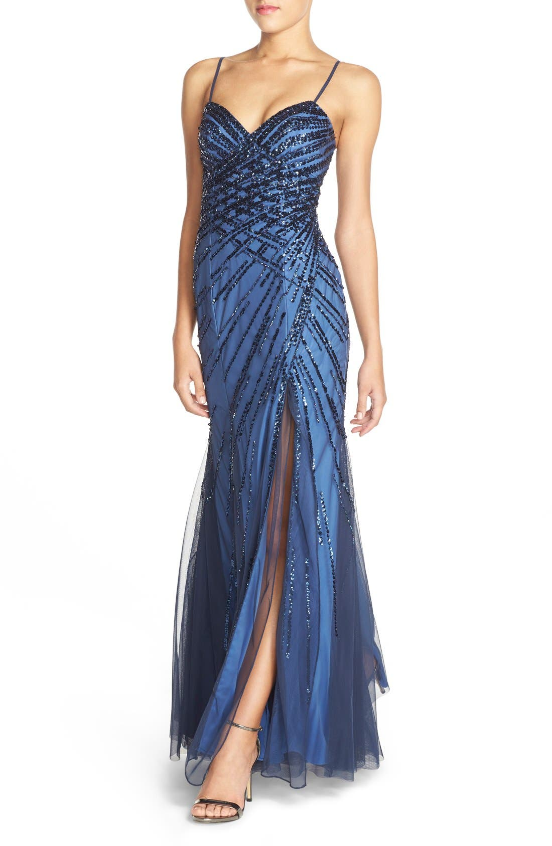 Alternate Image 4  - Sean Collection Sweetheart Neck Sequin Gown