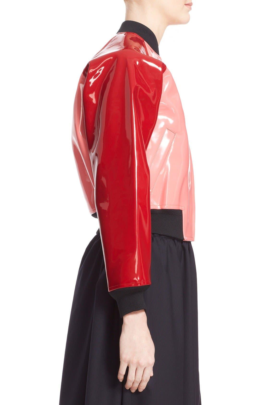 Alternate Image 5  - Comme des Garçons 'Enamel' Faux Leather Bomber Jacket