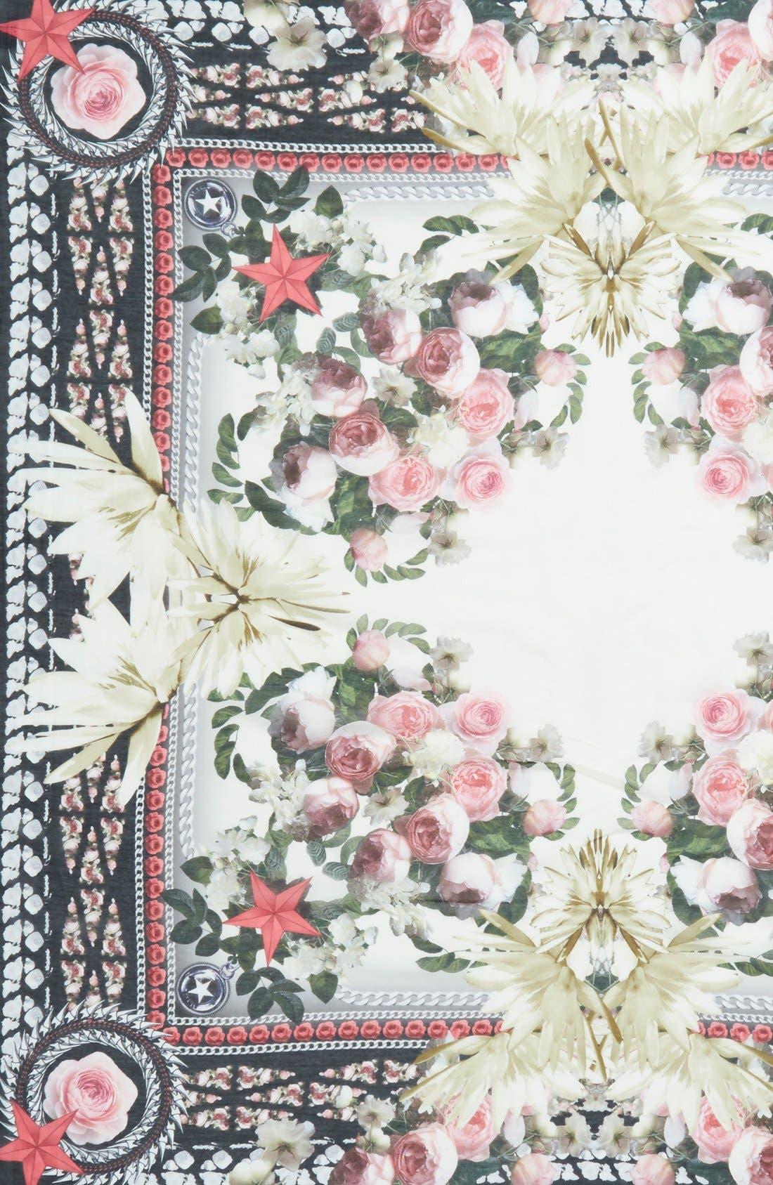 Alternate Image 3  - Givenchy 'Paradise Flower' Print Cotton & Silk Scarf