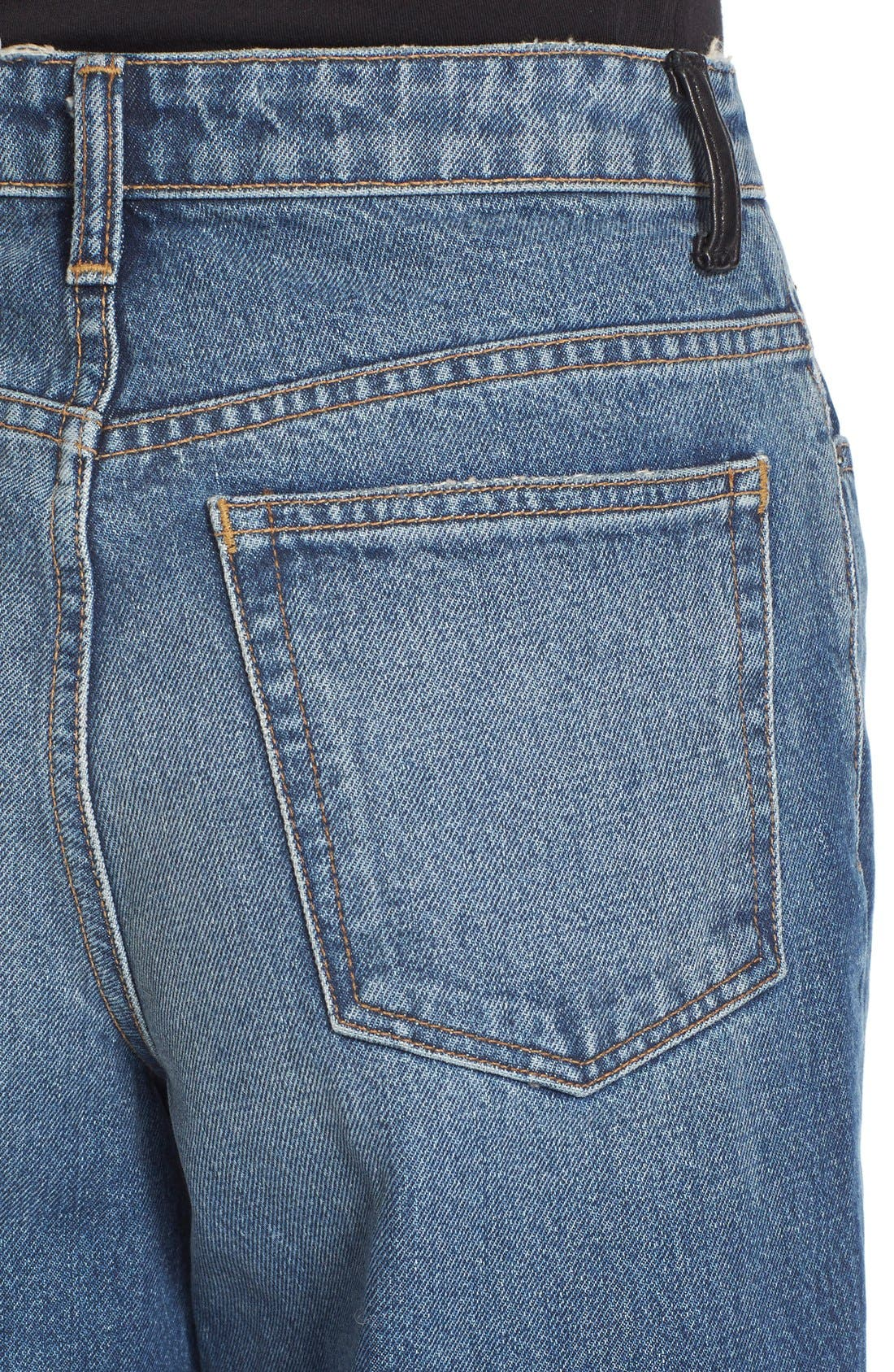 Alternate Image 5  - T by Alexander Wang Drill High Rise Wide Leg Crop Jeans