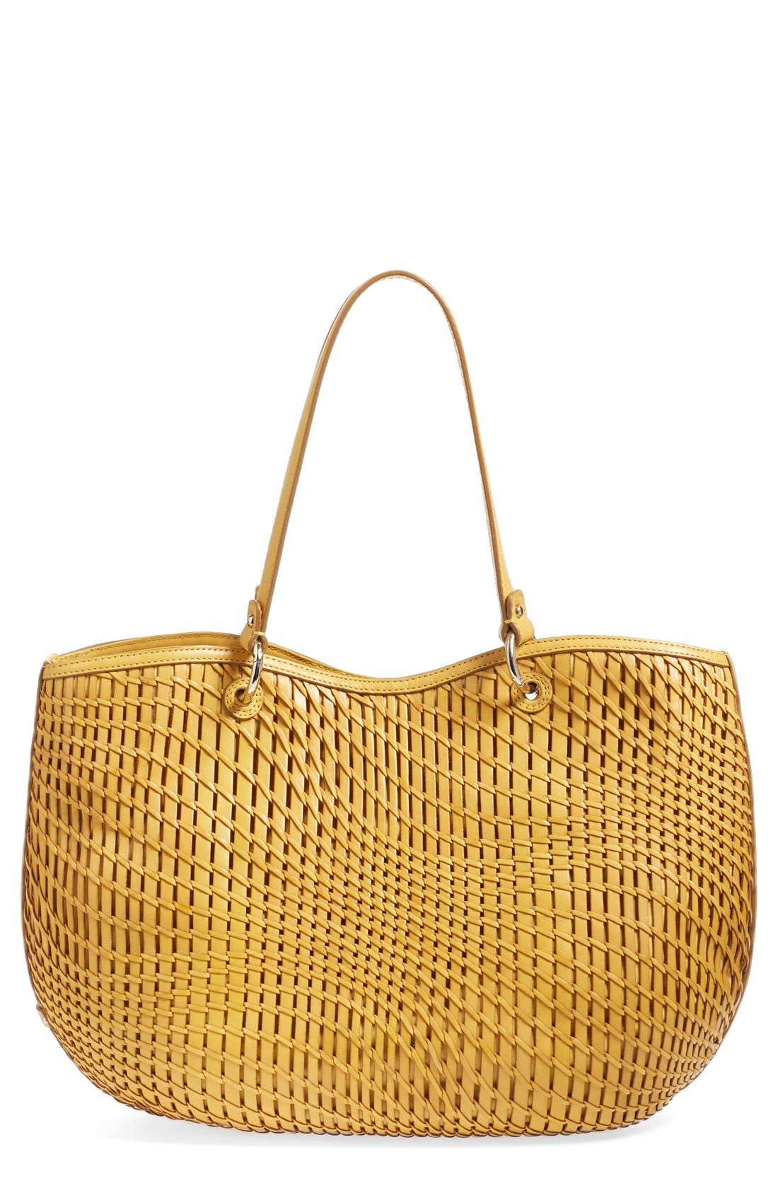 Alternate Image 1 Selected - Cole Haan 'Genevieve' Open Weave Leather Tote