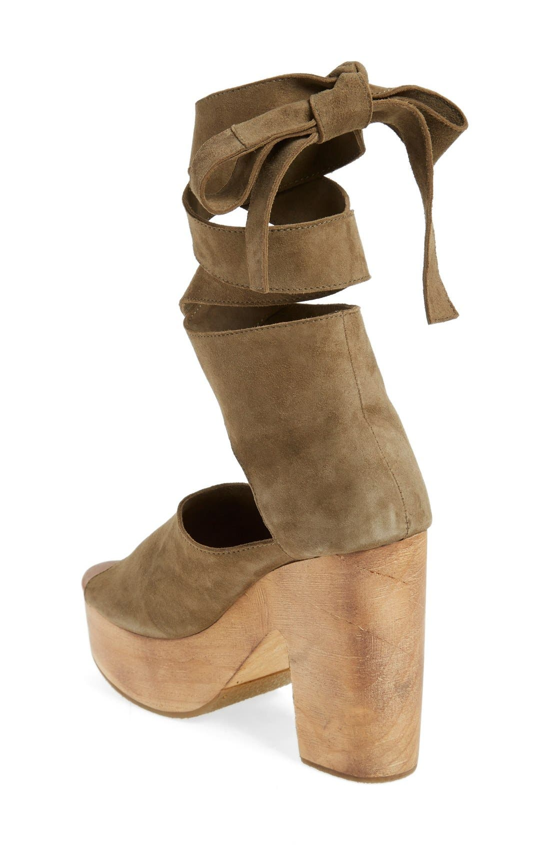 Alternate Image 2  - Free People 'Touch the Sky' Wrap Platform Clog Sandal (Women)