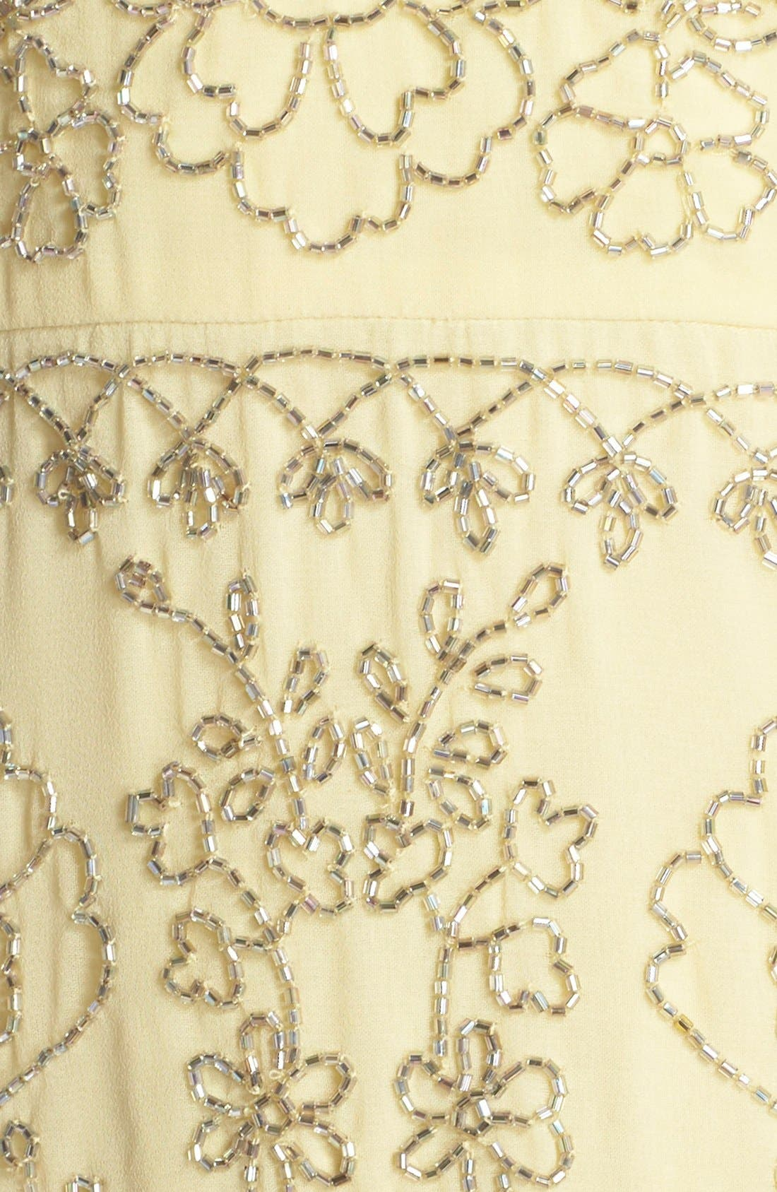 Alternate Image 7  - Needle & Thread Beaded Georgette Sheath Dress