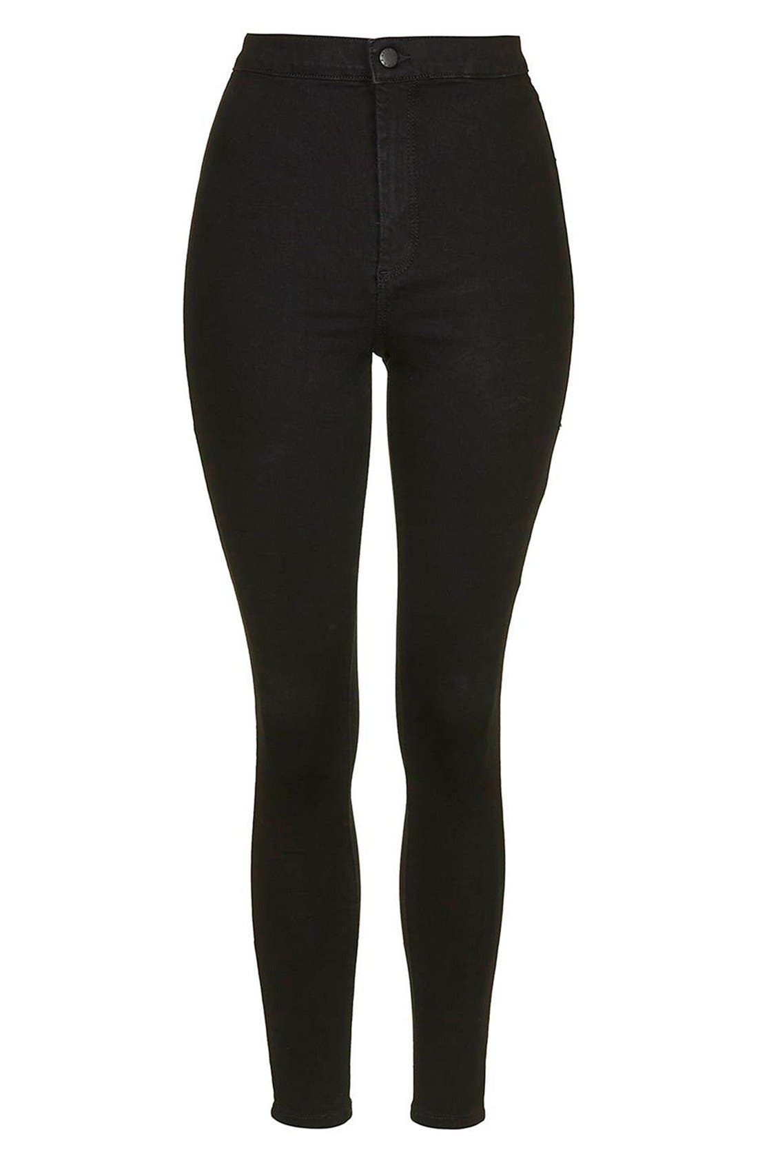 Alternate Image 4  - Topshop 'Joni - Holding Power' High Waist Skinny Jeans (Tall)