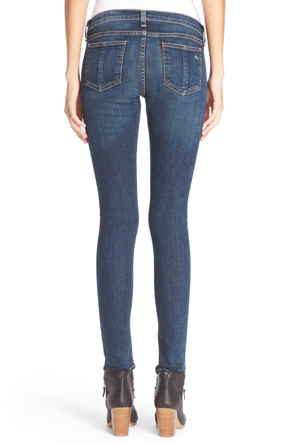 Alternate Image 2  - rag & bone/JEAN Skinny Jeans (Phoenicia)