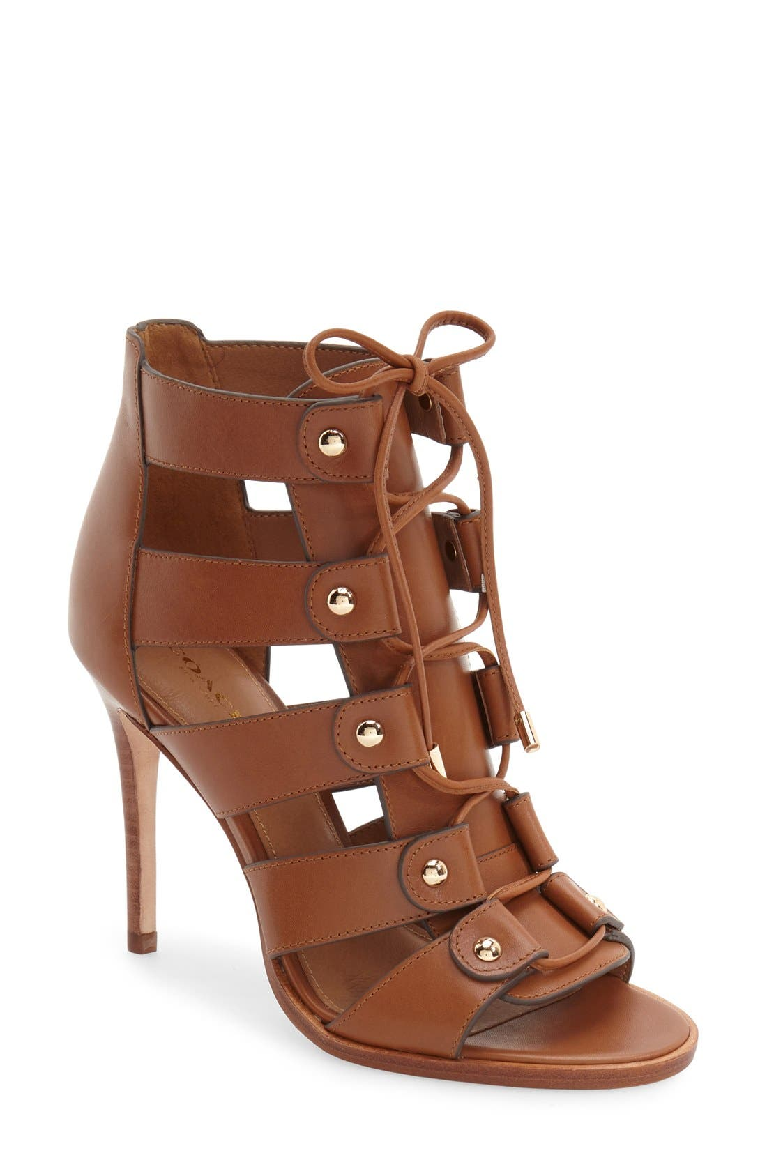 Alternate Image 1 Selected - COACH 'Leslie' Lace-Up Sandal (Women)