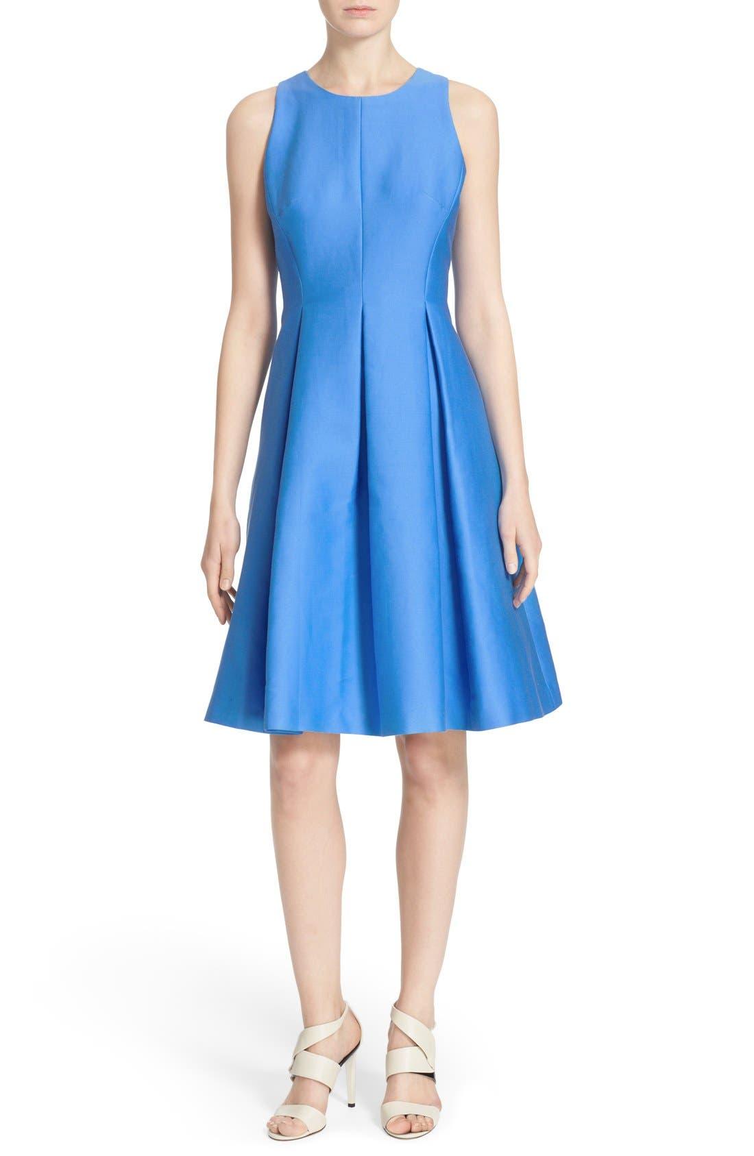 Main Image - kate spade new york cotton silk fit & flare dress