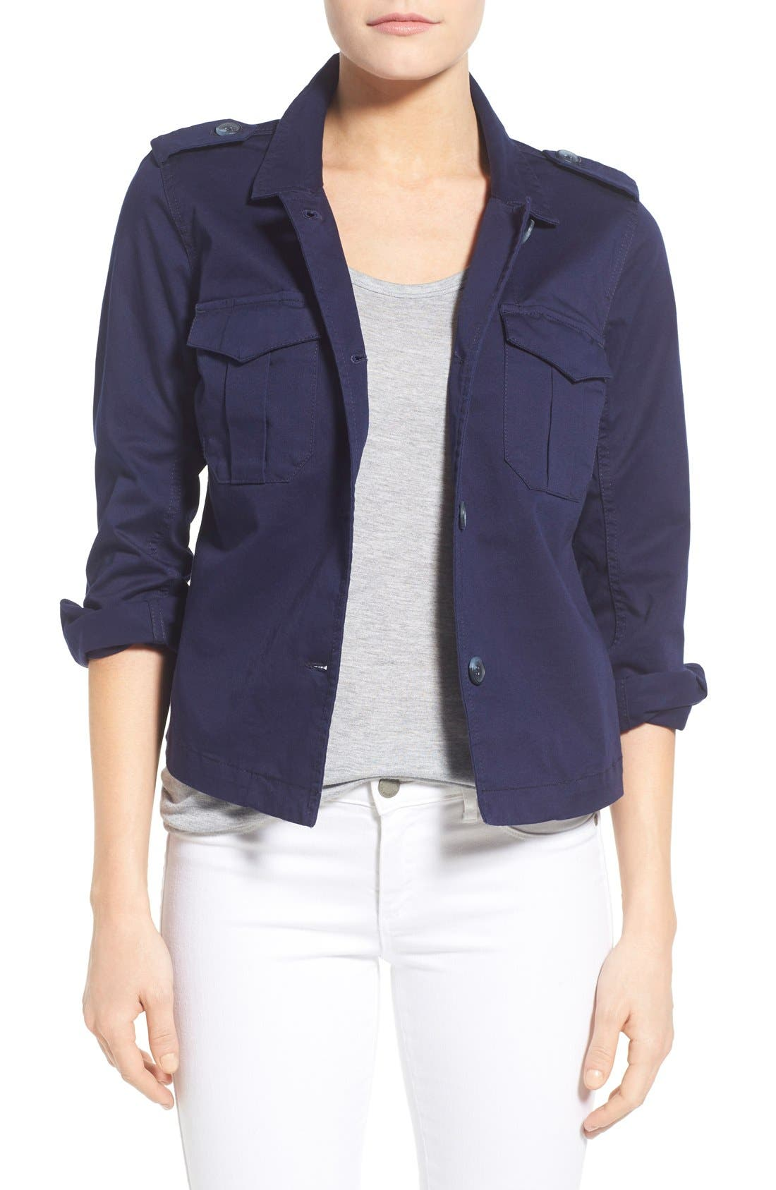 Two by Vince Camuto Twill Utility Jacket