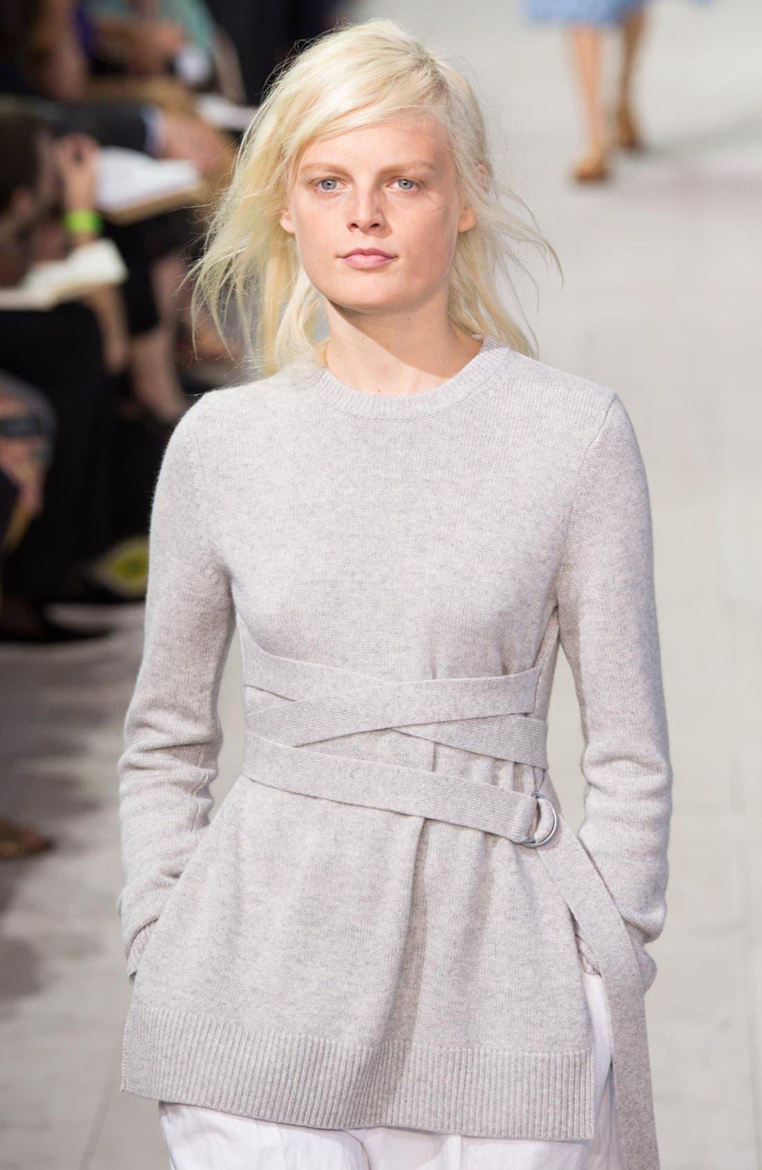 Alternate Image 2  - Michael Kors Wrap Belt Cashmere Sweater
