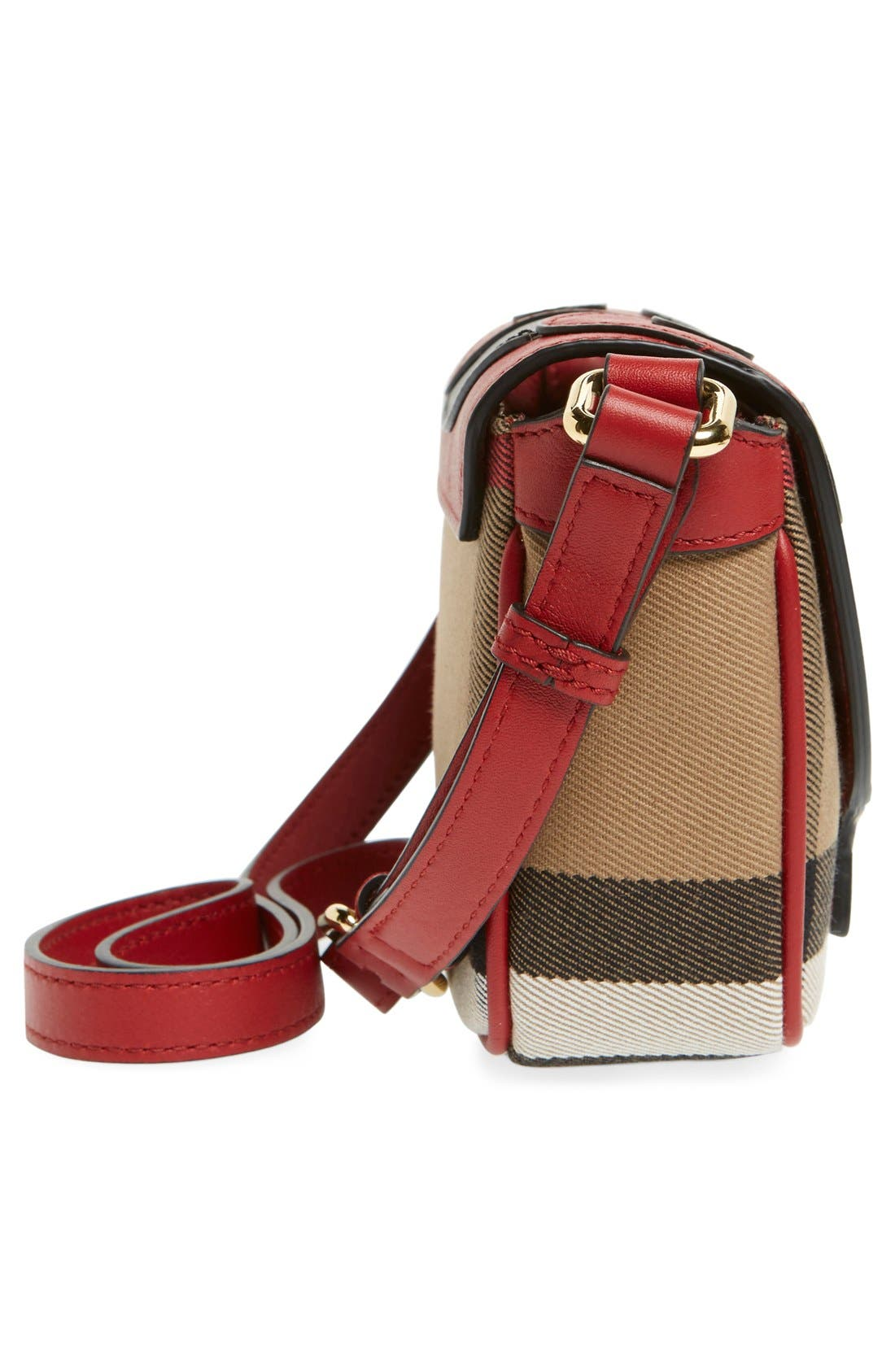 Alternate Image 3  - Burberry 'Ladybird' Cotton & Leather Crossbody Bag (Girls)