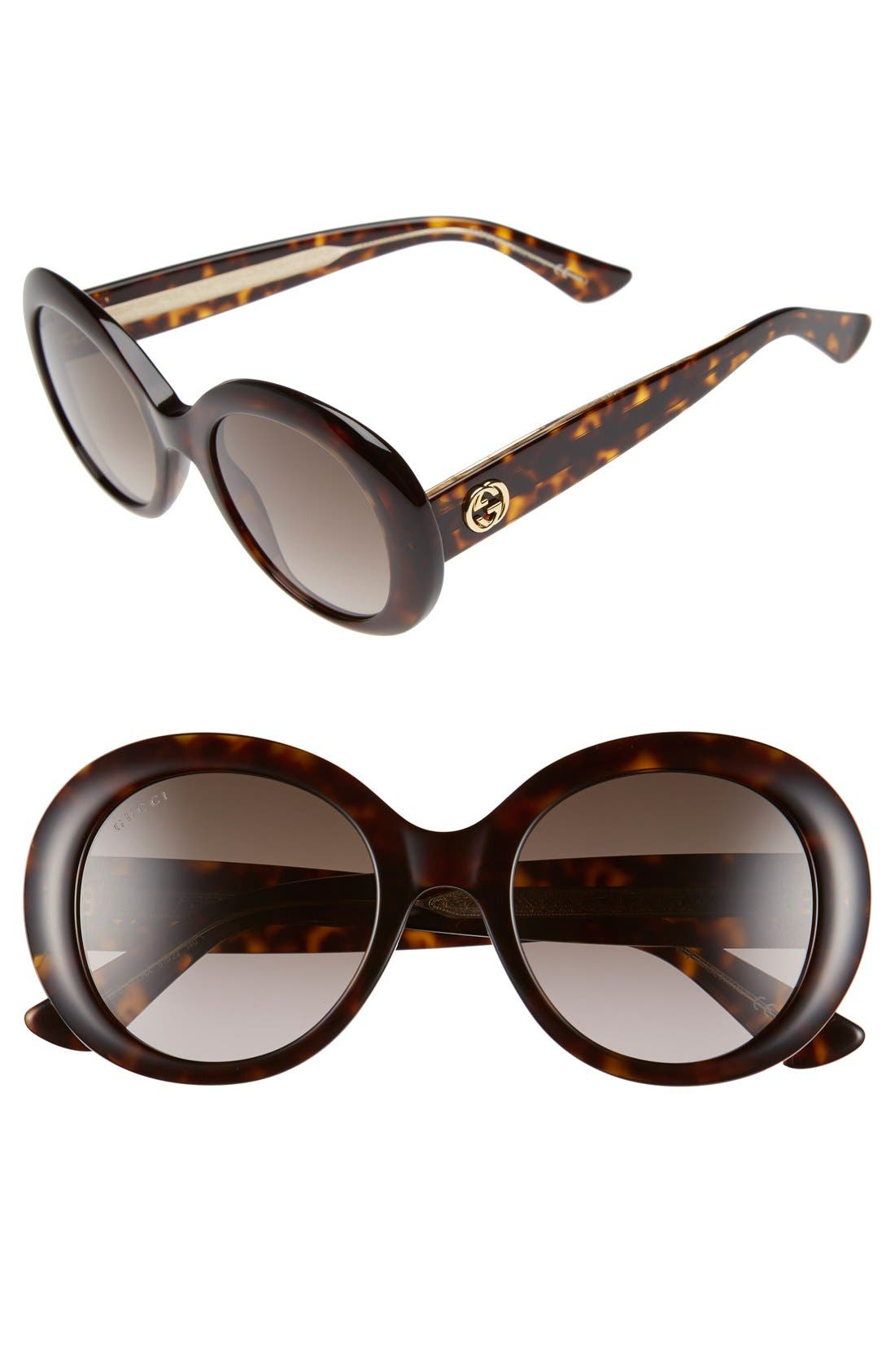 Alternate Image 1 Selected - Gucci 51mm Round Sunglasses