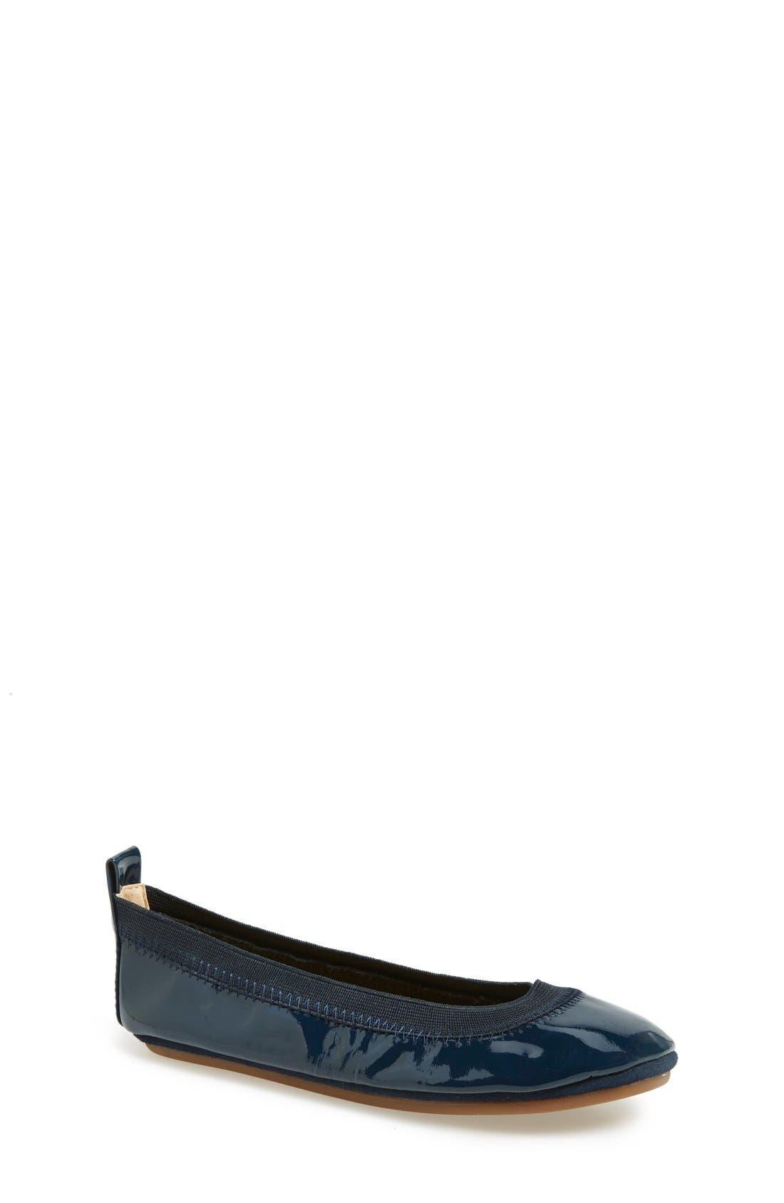 Yosi Samra Patent Foldable Ballet Flat (Toddler, Little Kid & Big Kid)