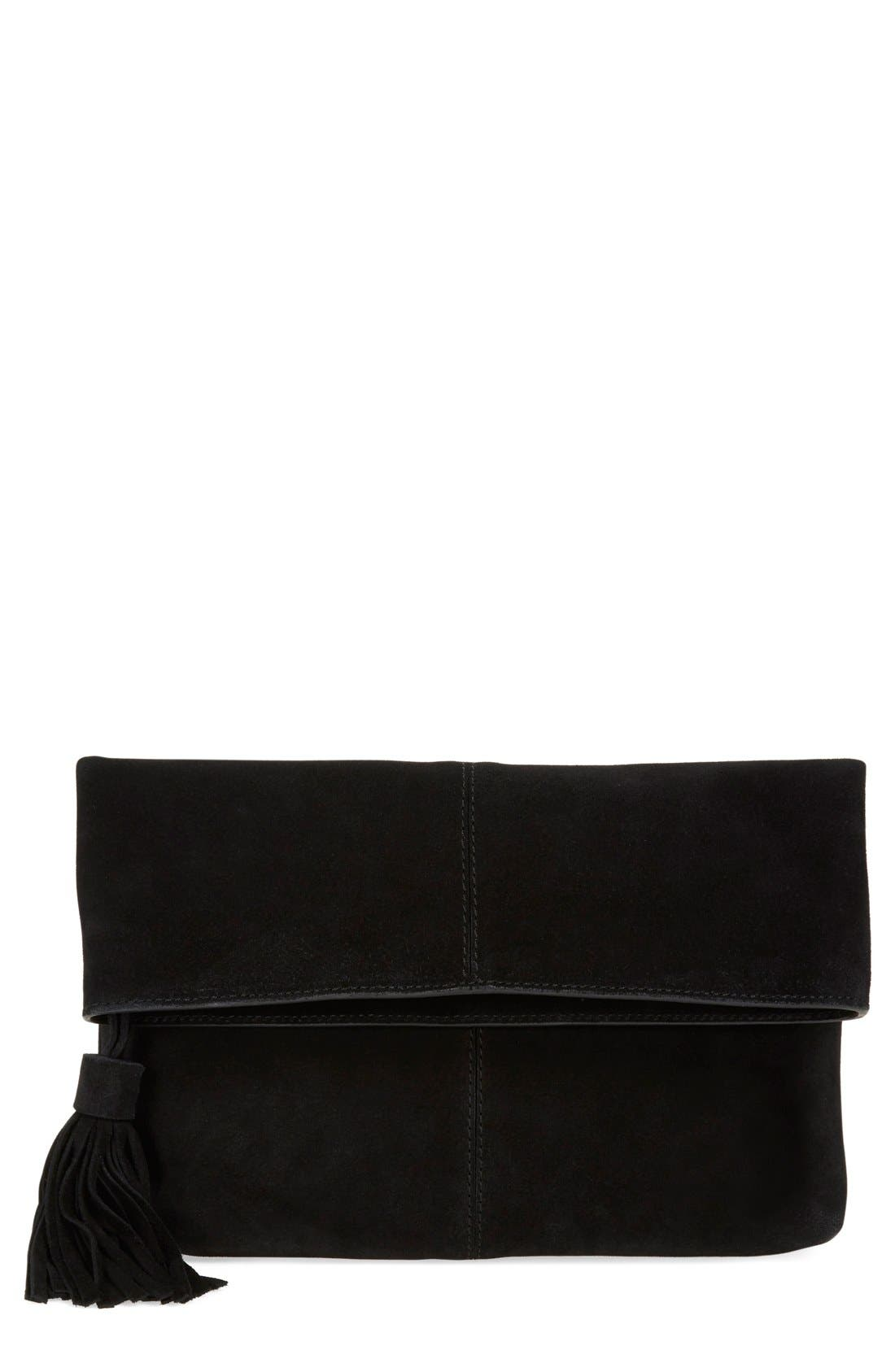 Main Image - Leith Suede Clutch