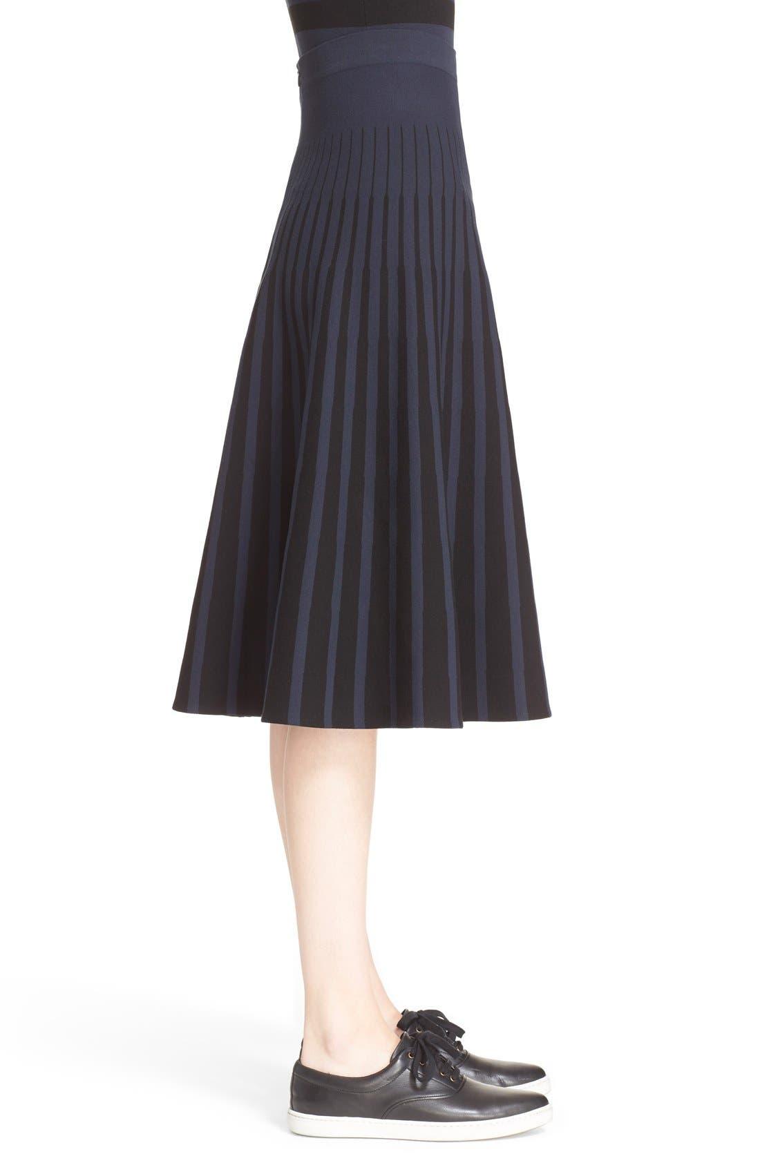 Alternate Image 5  - Tomas Maier Stripe Knit Flared Skirt