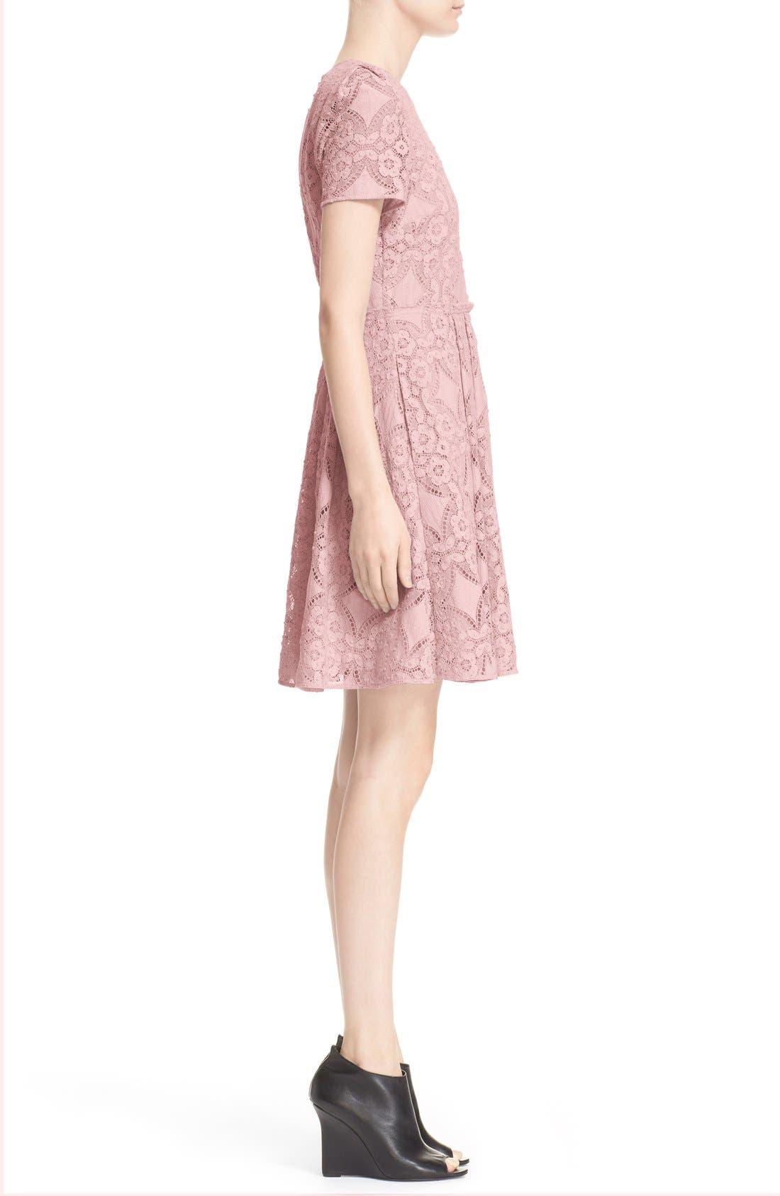 Alternate Image 4  - Burberry London 'Velma' Short Sleeve Lace Fit & Flare Dress