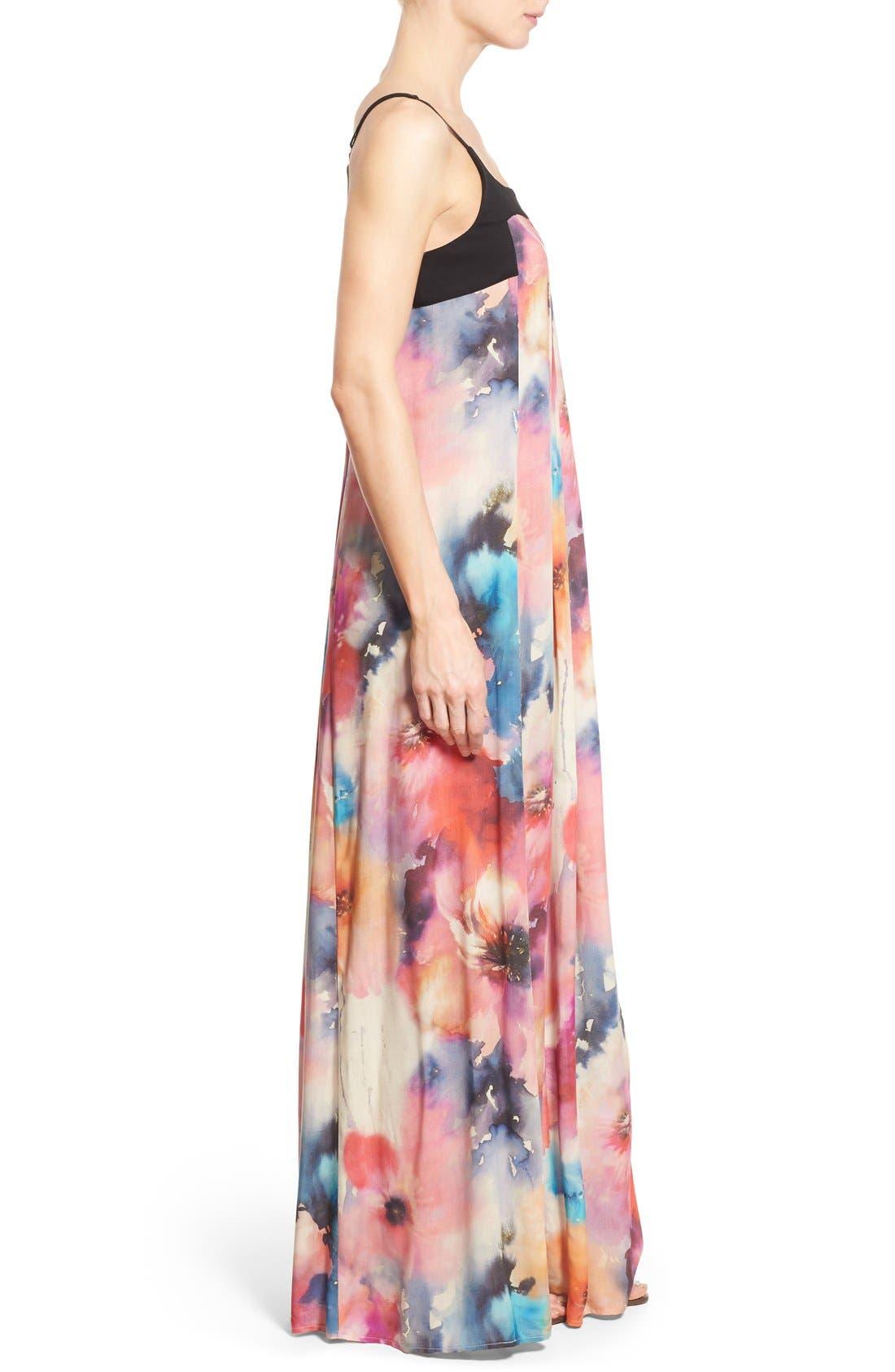 Alternate Image 3  - Matty M Print Sleeveless Pleat Maxi Dress
