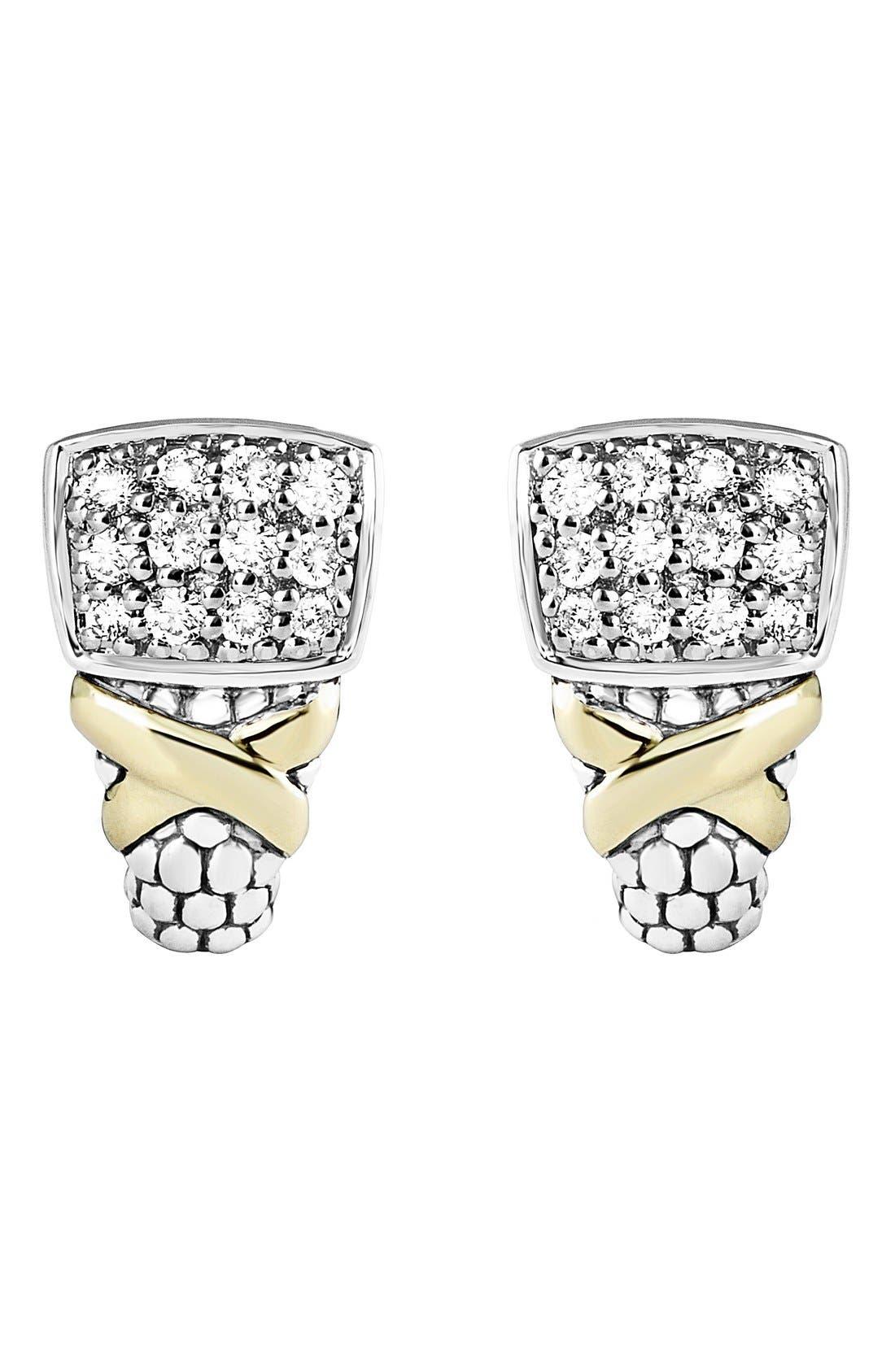 Alternate Image 3  - LAGOS 'Diamond Lux' Diamond Stud Earrings