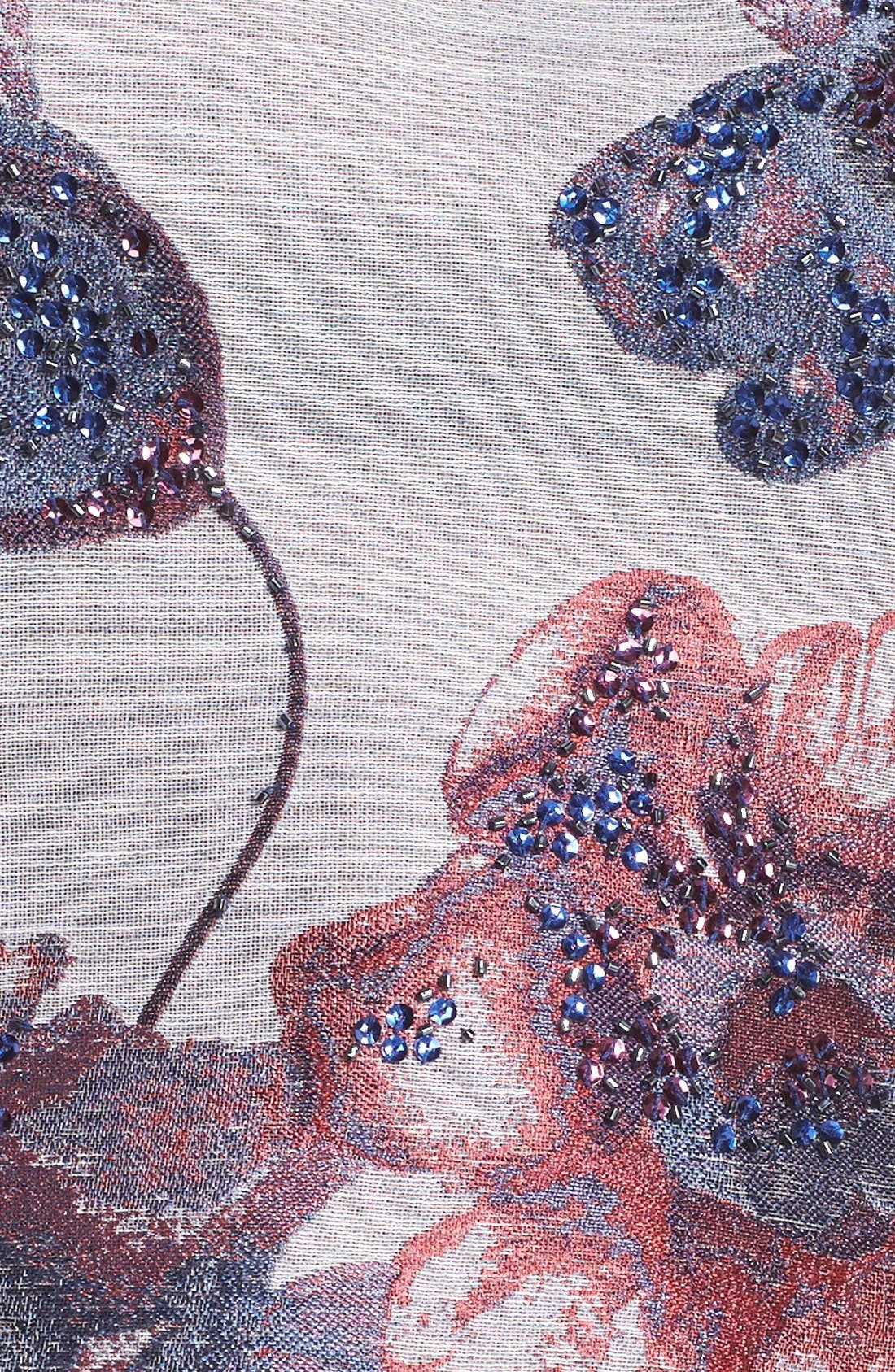 Alternate Image 7  - Adrianna Papell Floral Print Fit & Flare Dress (Regular & Petite)