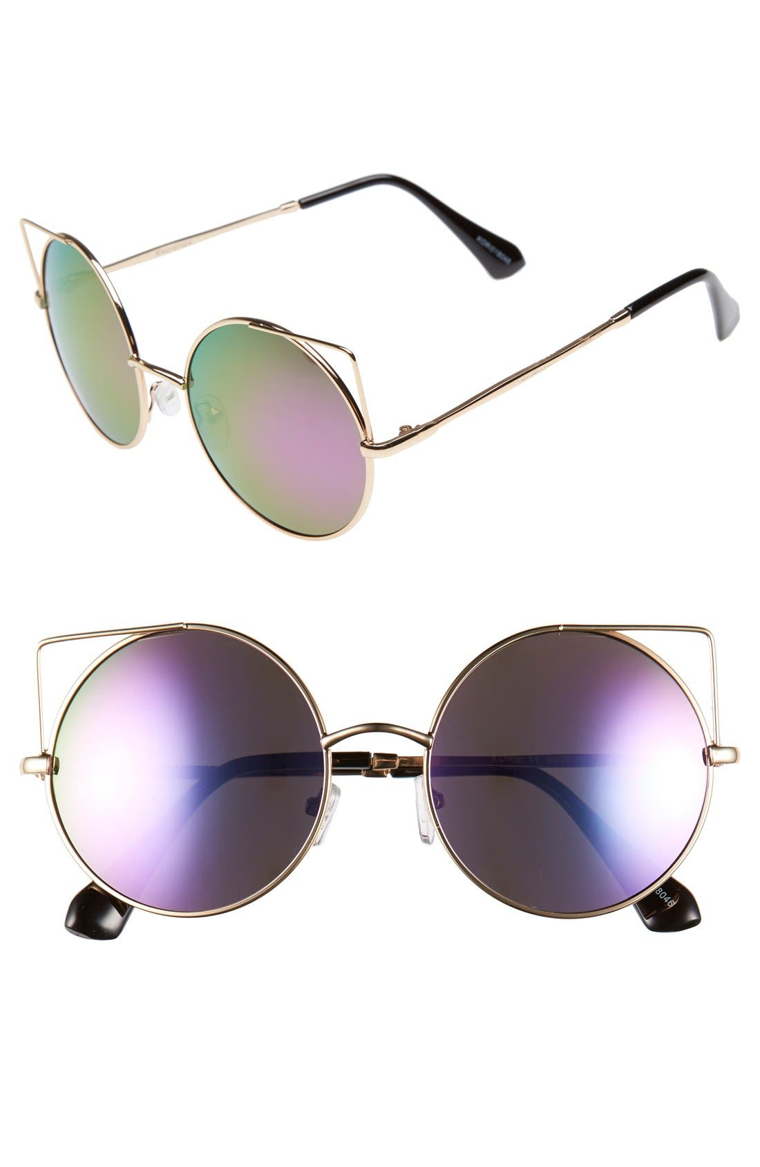 Main Image - BP. 55mm Round Mirrored Lens Sunglasses