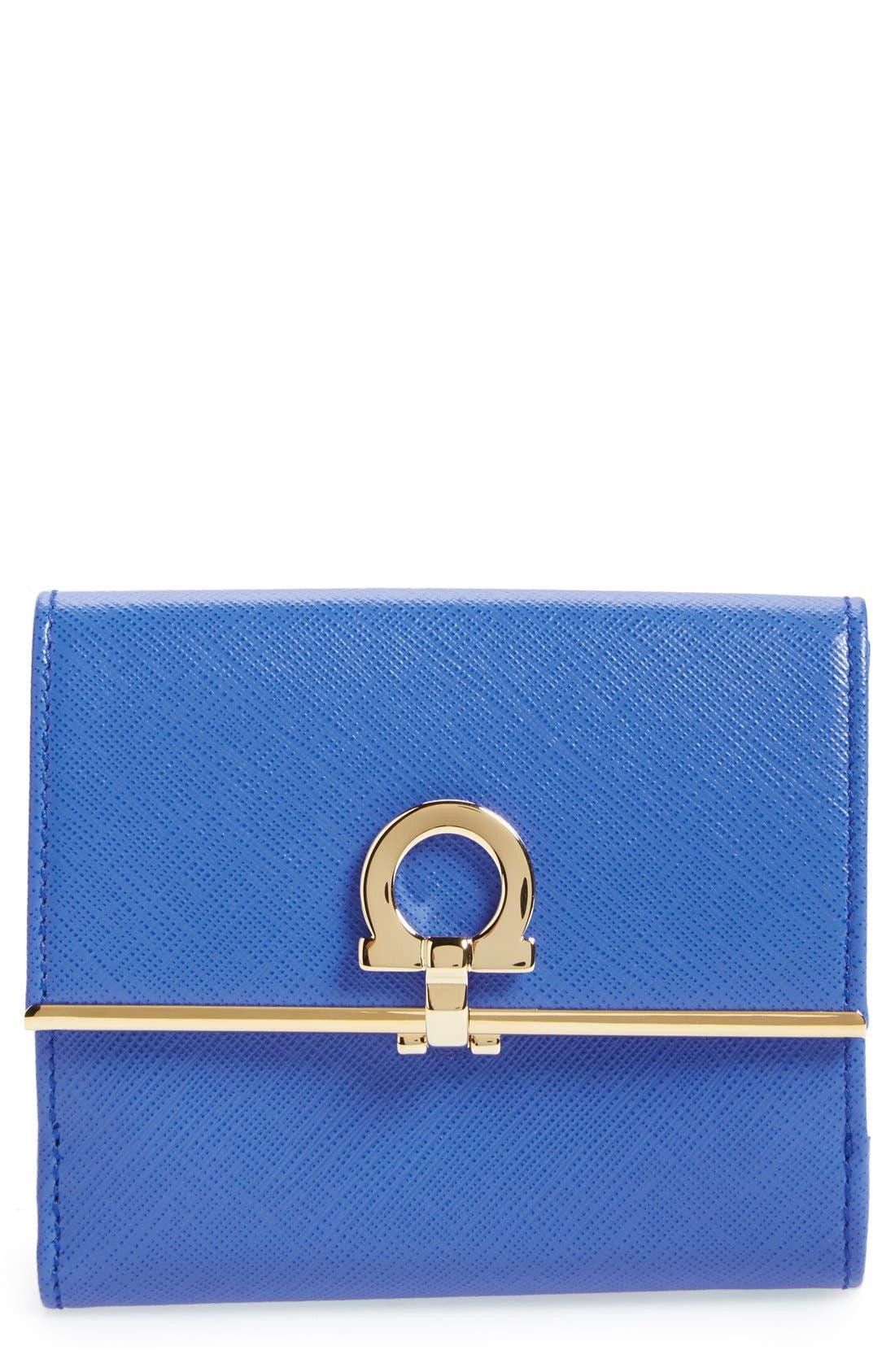 Alternate Image 1 Selected - Salvatore Ferragamo Saffiano Calfskin Leather Wallet