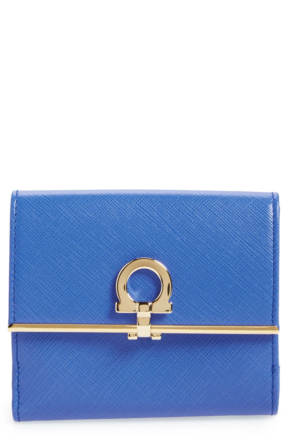 Main Image - Salvatore Ferragamo Saffiano Calfskin Leather Wallet