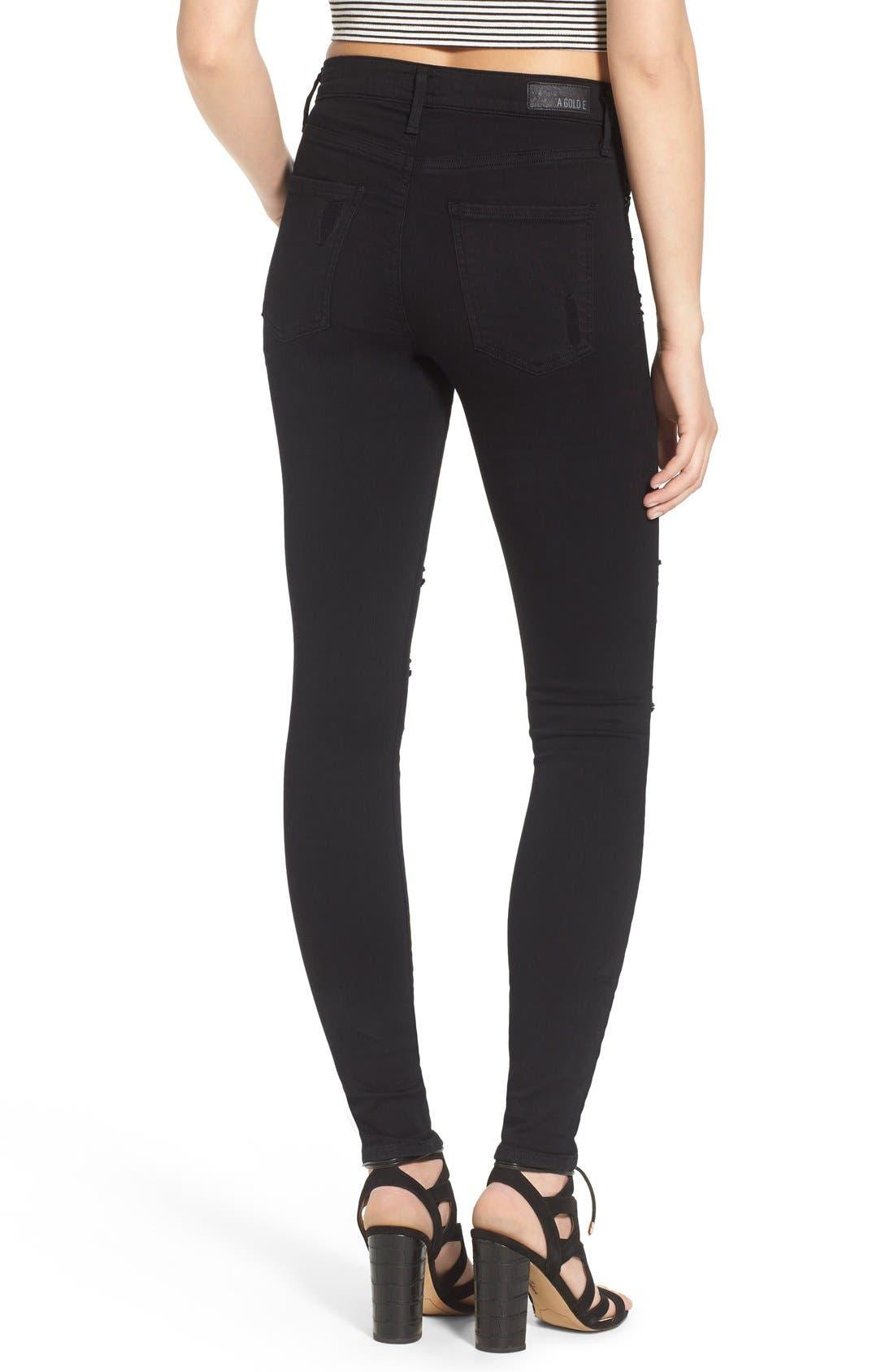 Alternate Image 2  - AGOLDE Sophie High Waist Skinny Jeans (Moon Struck)