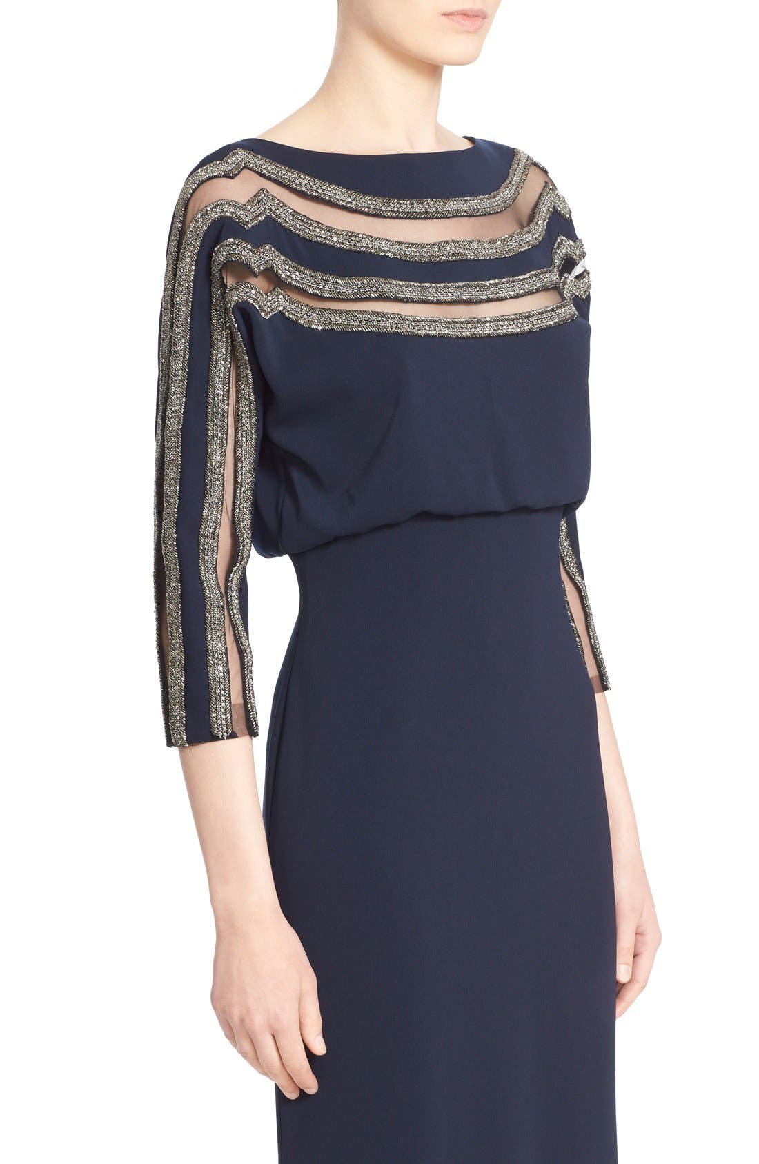 Alternate Image 5  - Badgley Mischka Couture Embellished Blouson Column Gown (Nordstrom Exclusive Color)