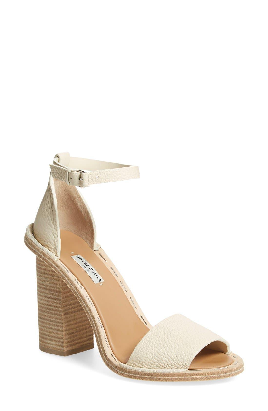 Alternate Image 1 Selected - Balenciaga Wood Heel Sandal (Women)