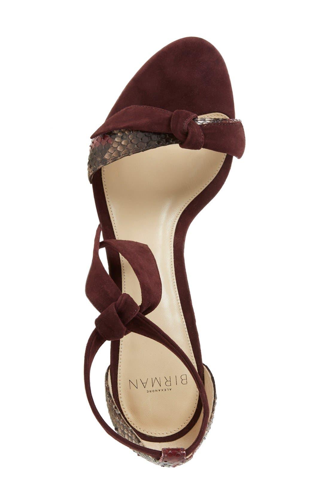 Alternate Image 3  - Alexandre Birman 'Clarita' Suede & Genuine Python Ankle Tie Sandal (Women) (Nordstrom Exclusive)